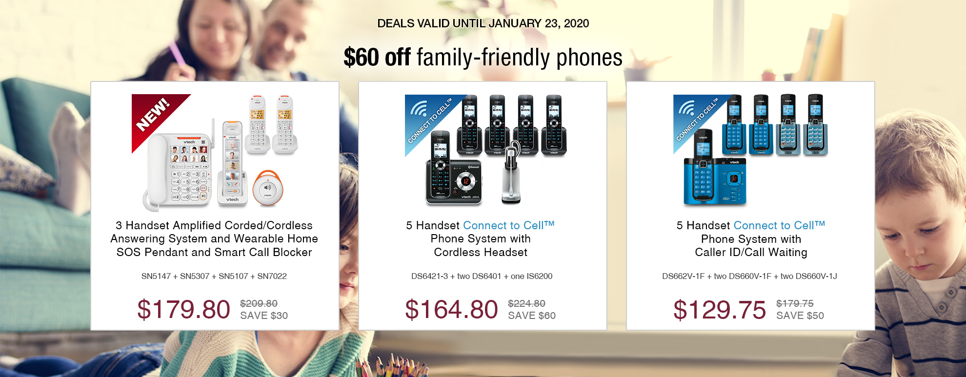 $60 off family-friendly phones