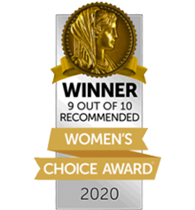 Winner 9 Out of 10 Recommended - Women's Choice Award 2020