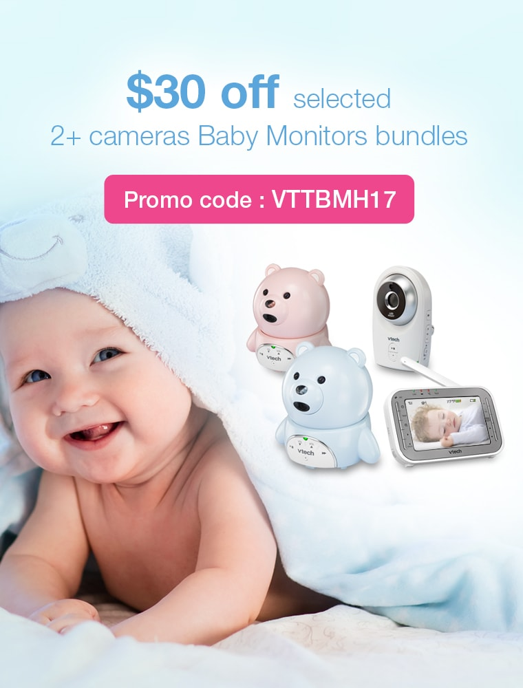 $30 Off selected 2+ cameras Baby Monitors bundles. Promo code: VTTBMH17