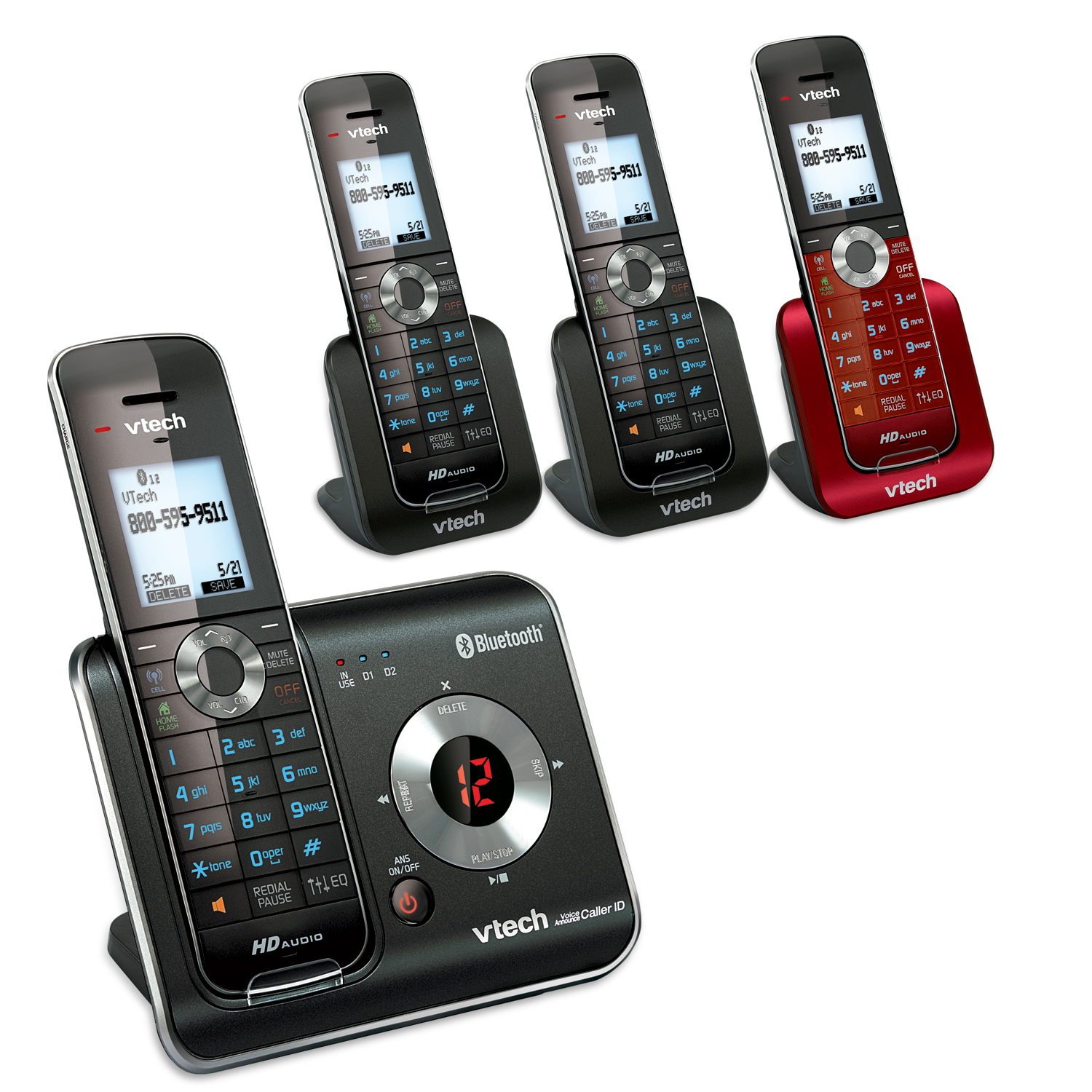 4 Handset Connect to Cell™ Answering System with Caller ID/Call Waiting