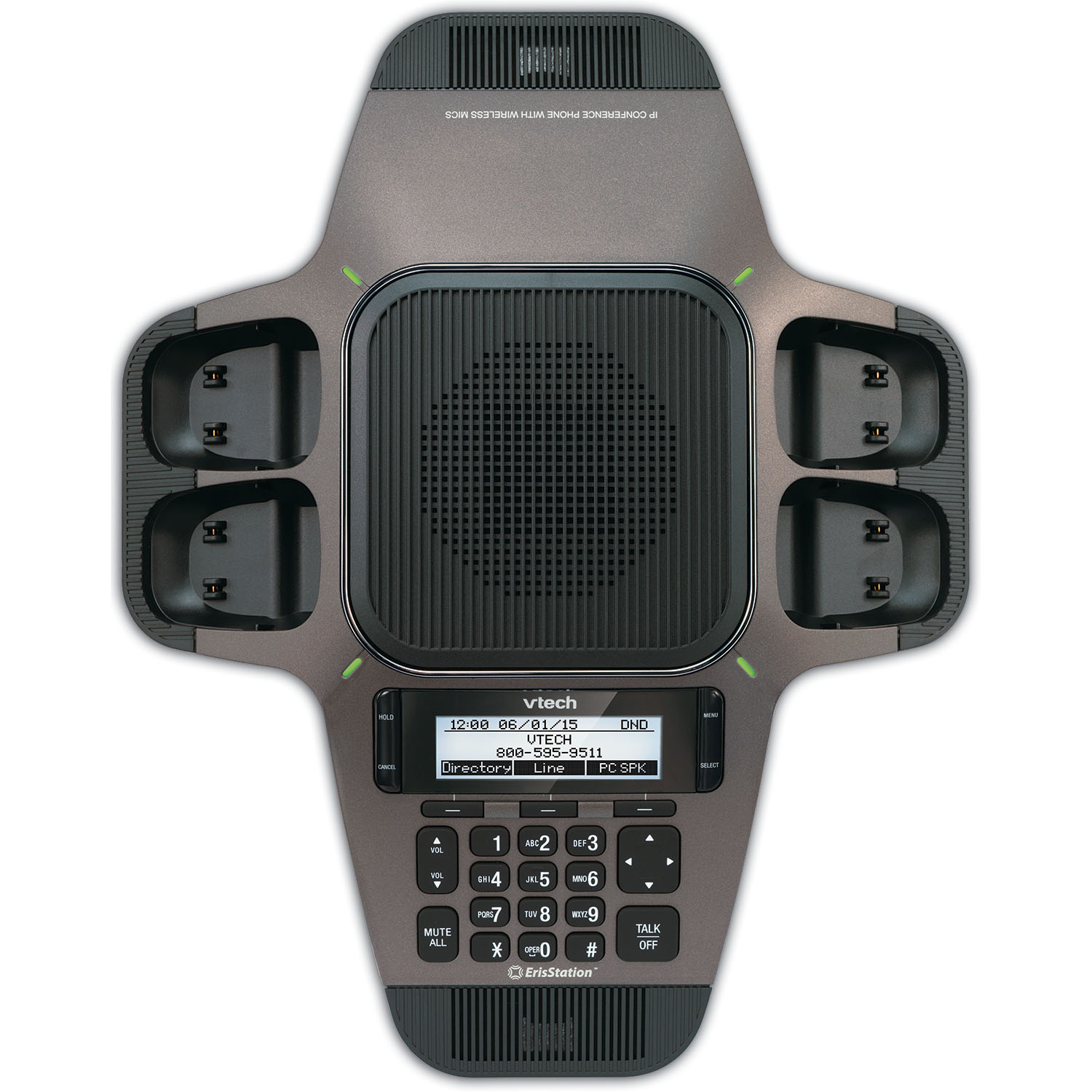 ErisStation® SIP Conference Phone with Four Wireless Mics