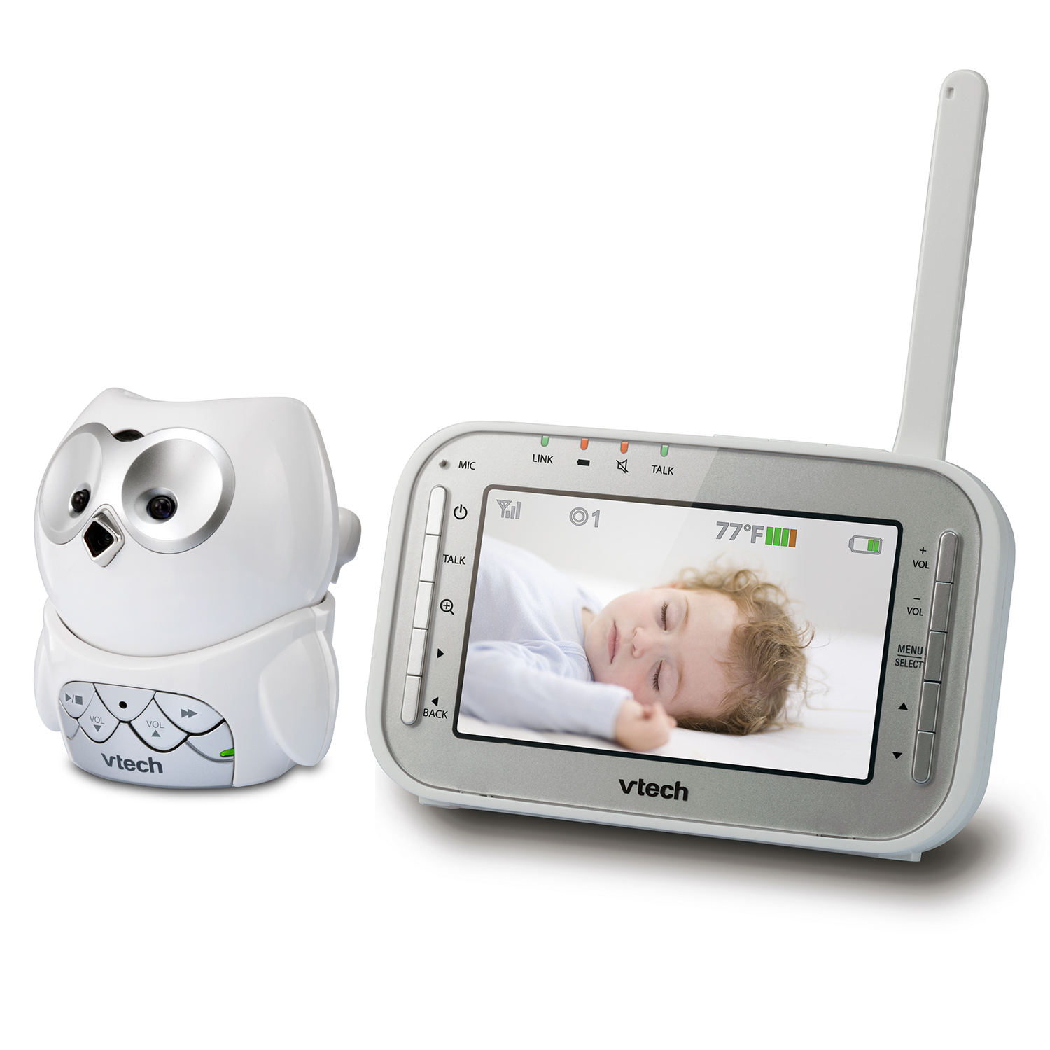 Baby Monitor - Full Color Owl Video Monitor with Automatic
