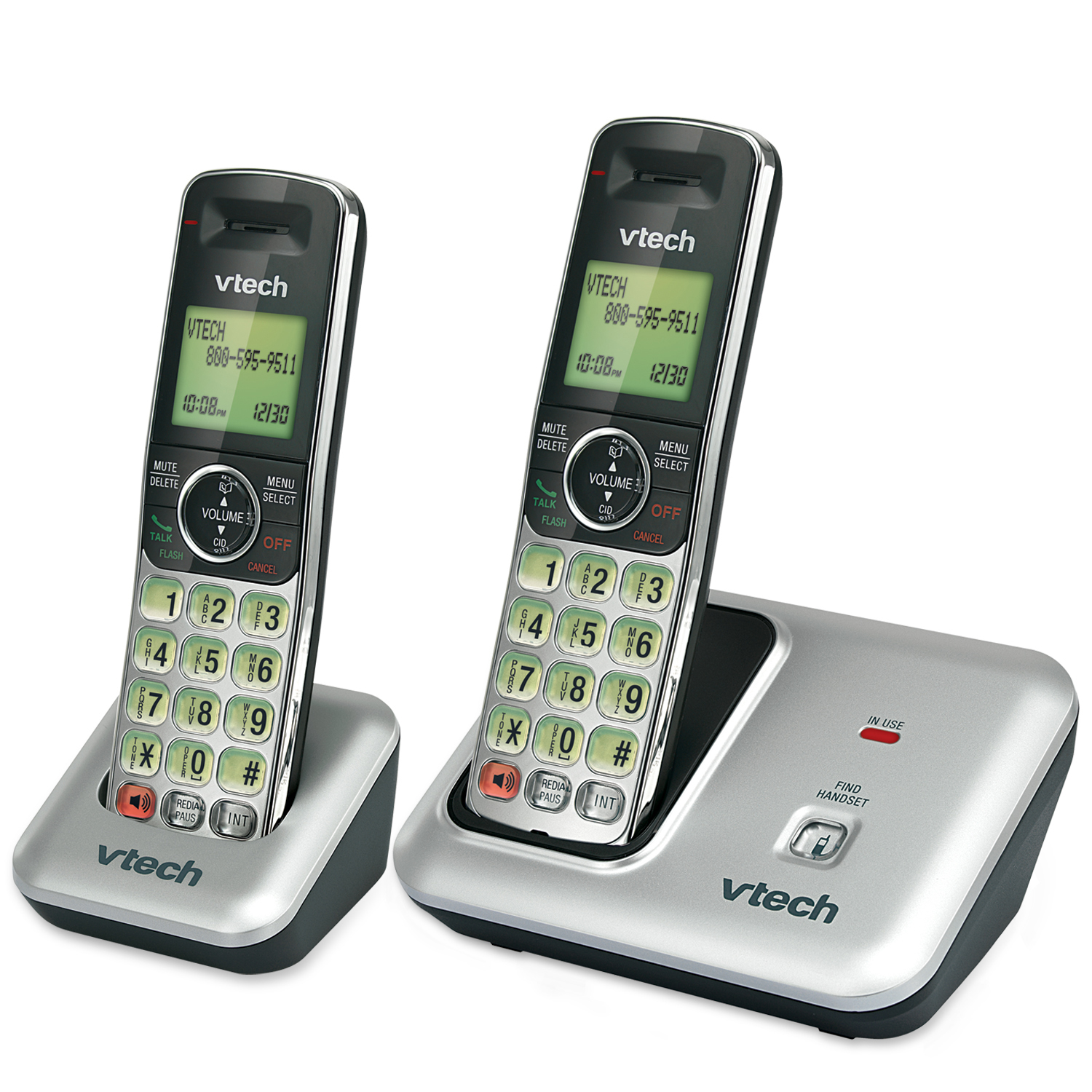 2 Handset Cordless Phone with Caller ID/Call Waiting
