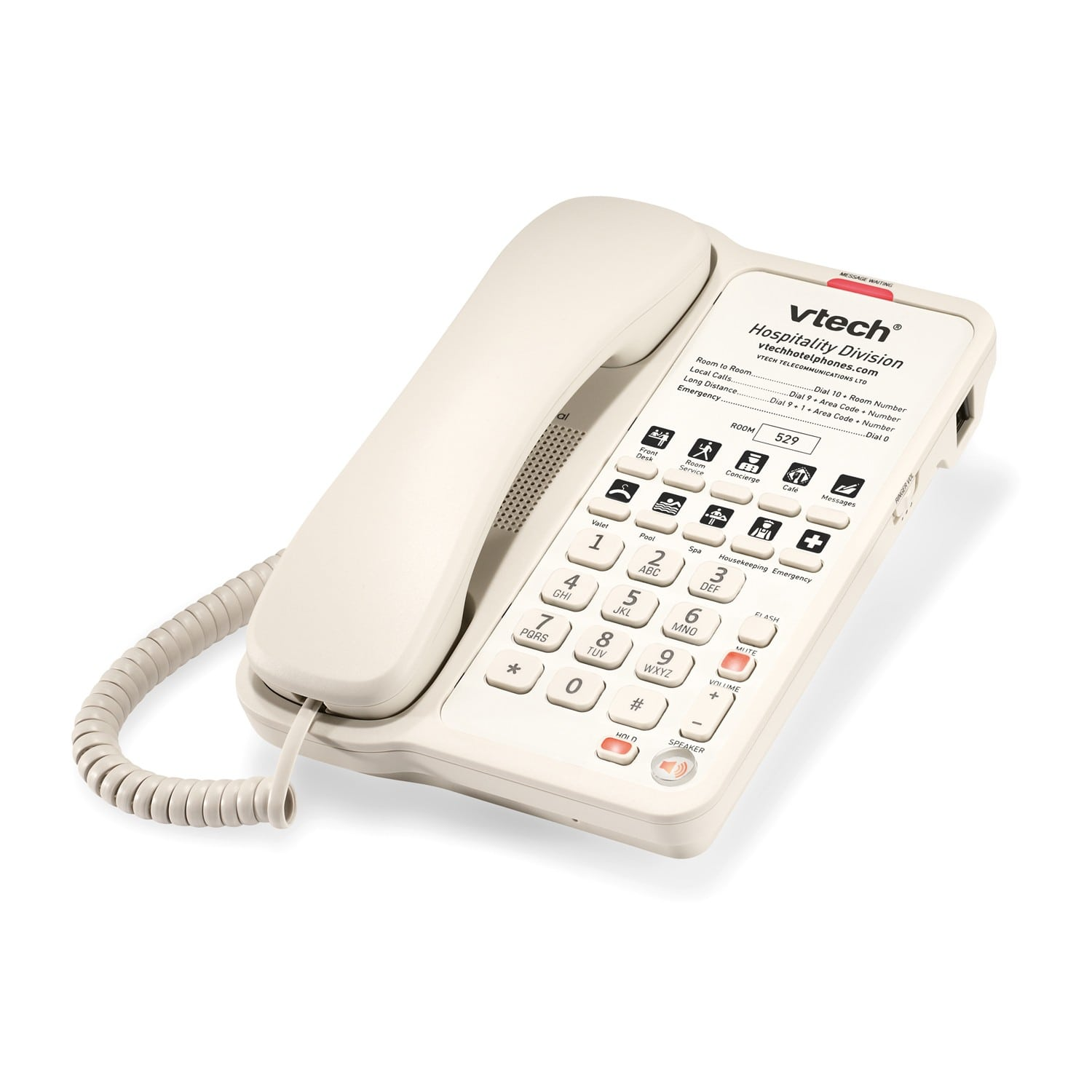 Image of 1-Line Classic Analog Corded Phone | A1210-A Ash