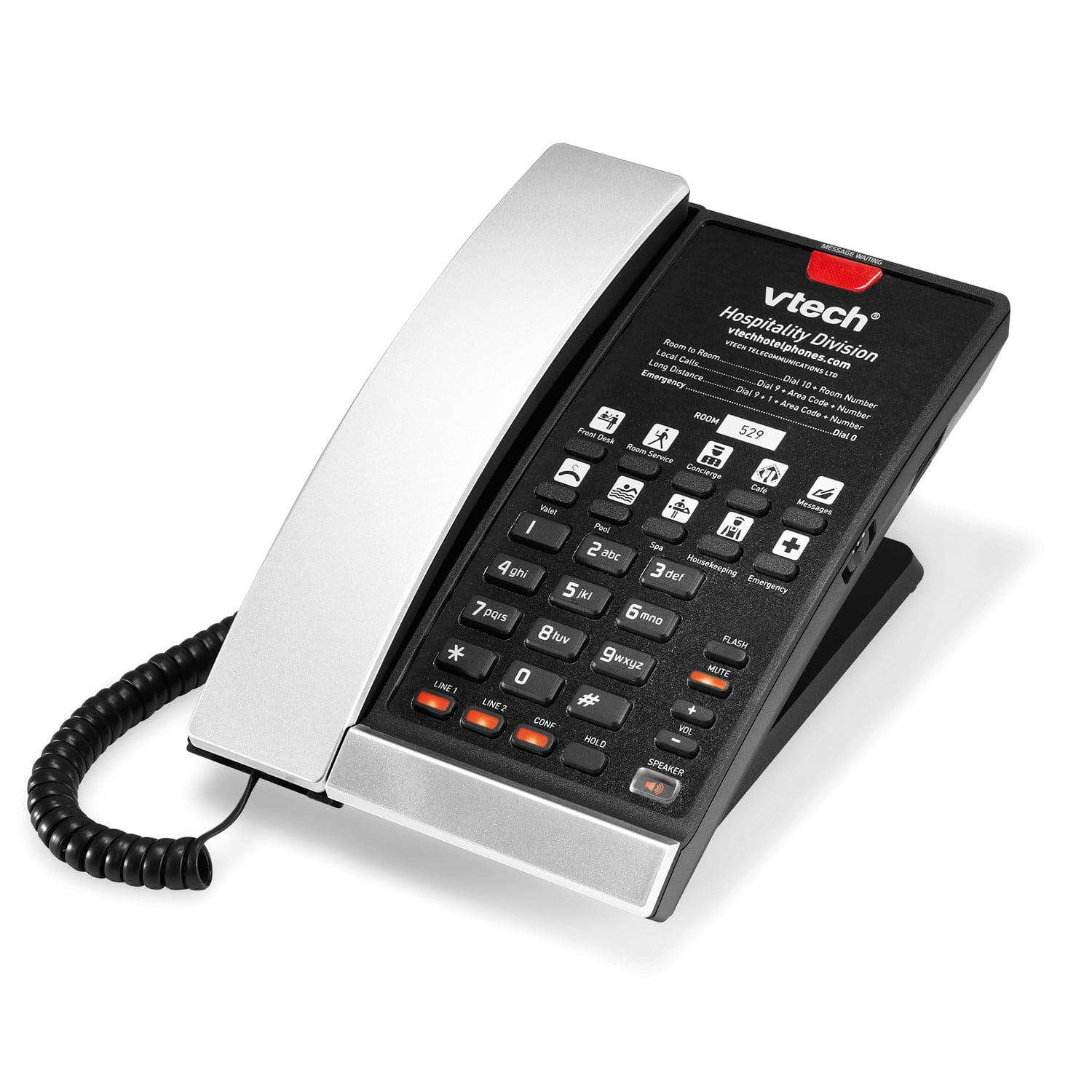 2-Line Contemporary Analog Corded Phone
