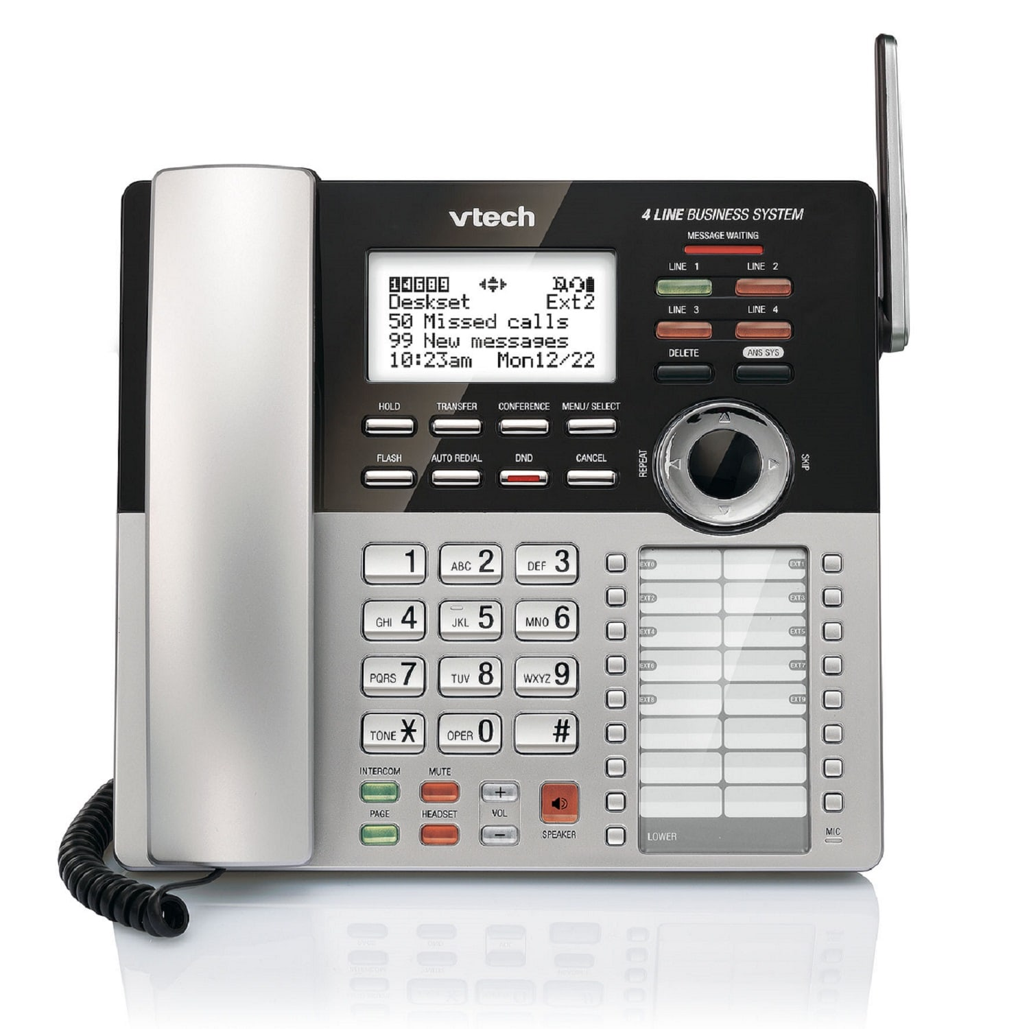 4 Line Small Business Phone System Vtech Multi And Telephone Wiring Accessories Accessory Deskset For Cm18445 Main Console