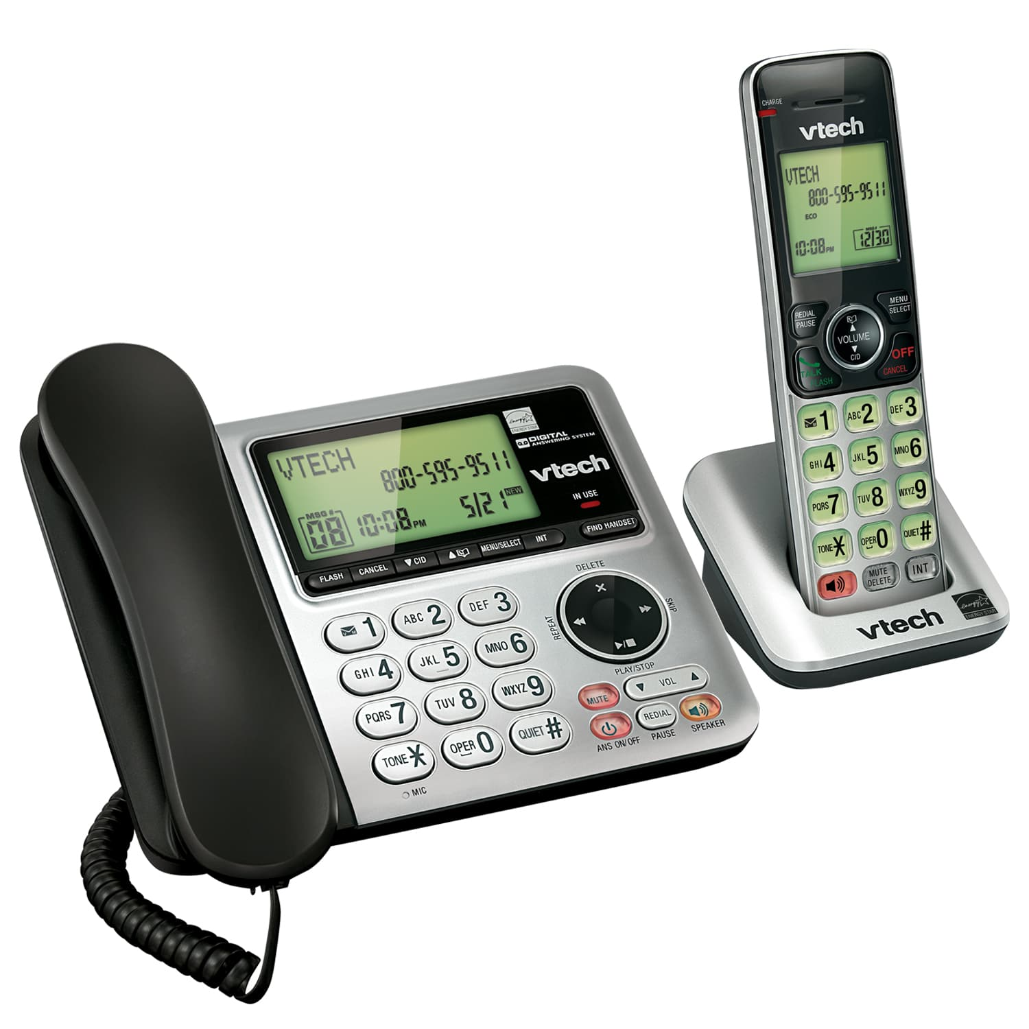 3 Handset Answering System with Caller ID/Call Waiting