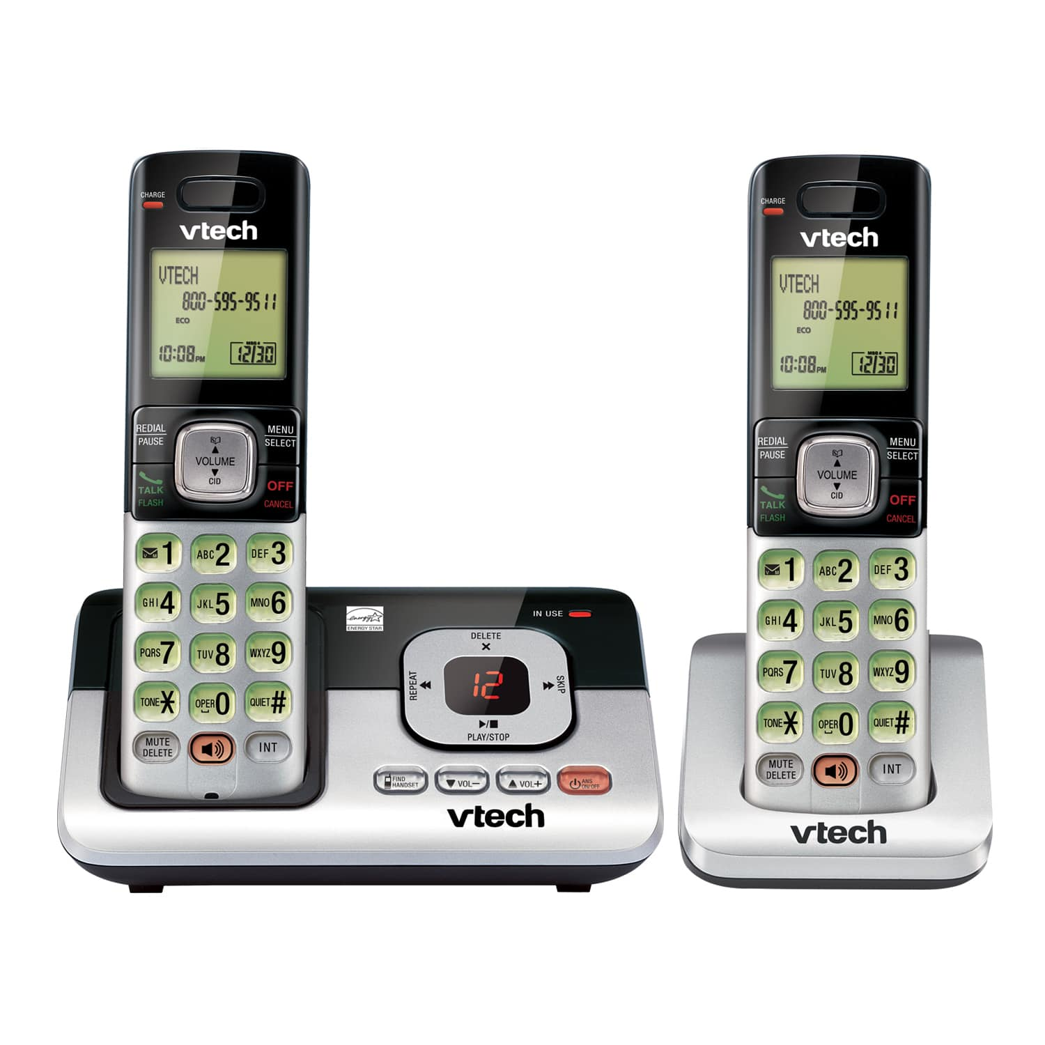 2 handset answering system with caller id call waiting cs6829 2 rh vtechphones com VTech Handset Phone System VTech Handset Cordless Phone 1