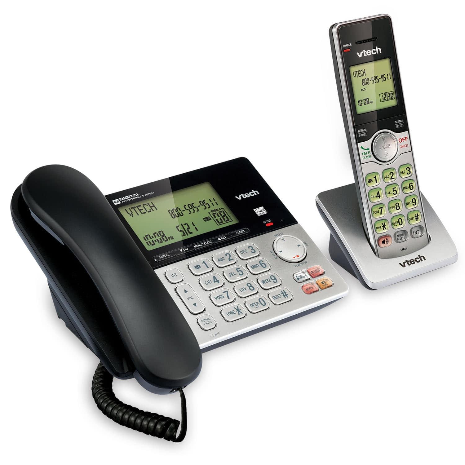 Corded/Cordless Answering System with Caller ID/Call Waiting