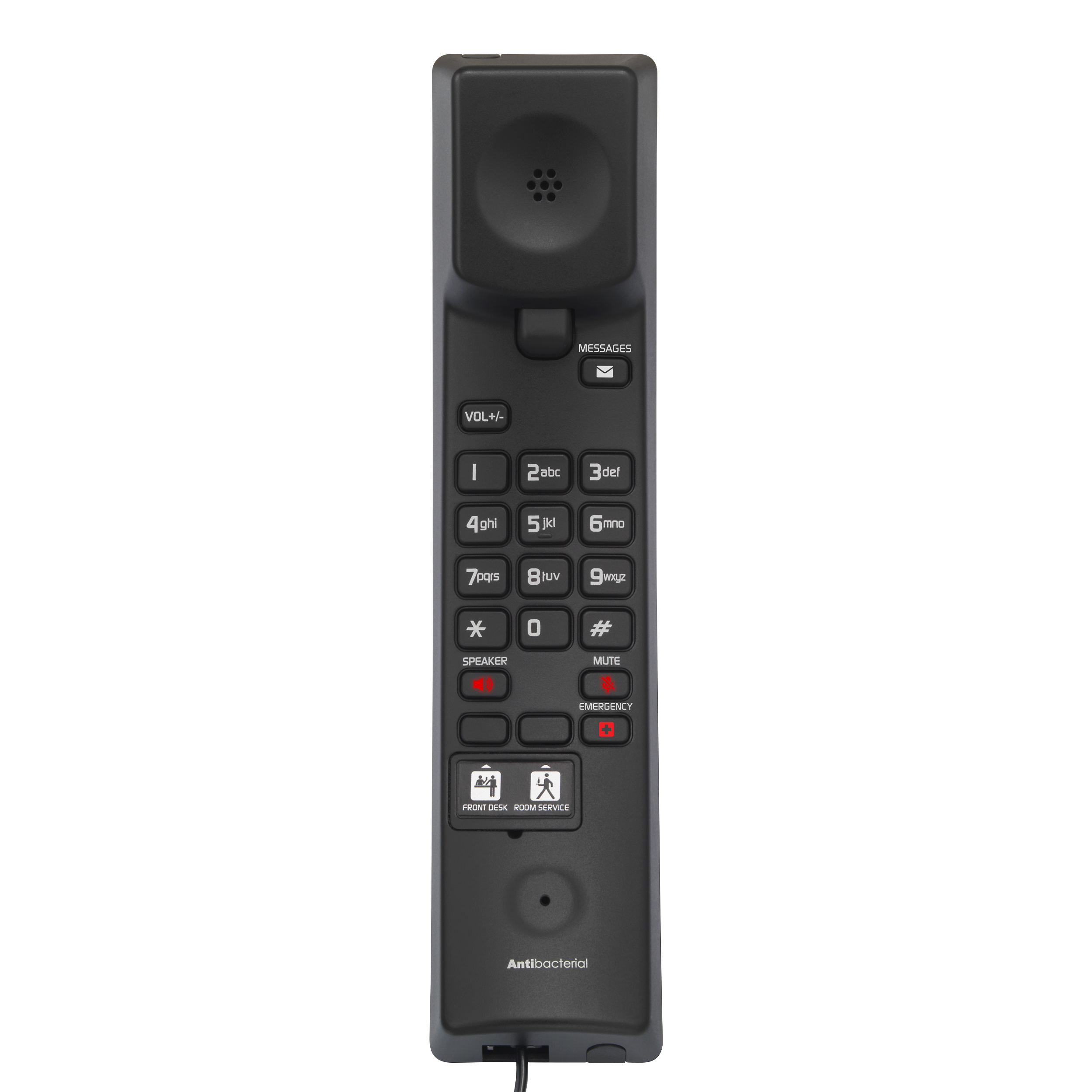 Image of 1-Line Analog Corded Phone | CTM-A2315-SPK Matte Black