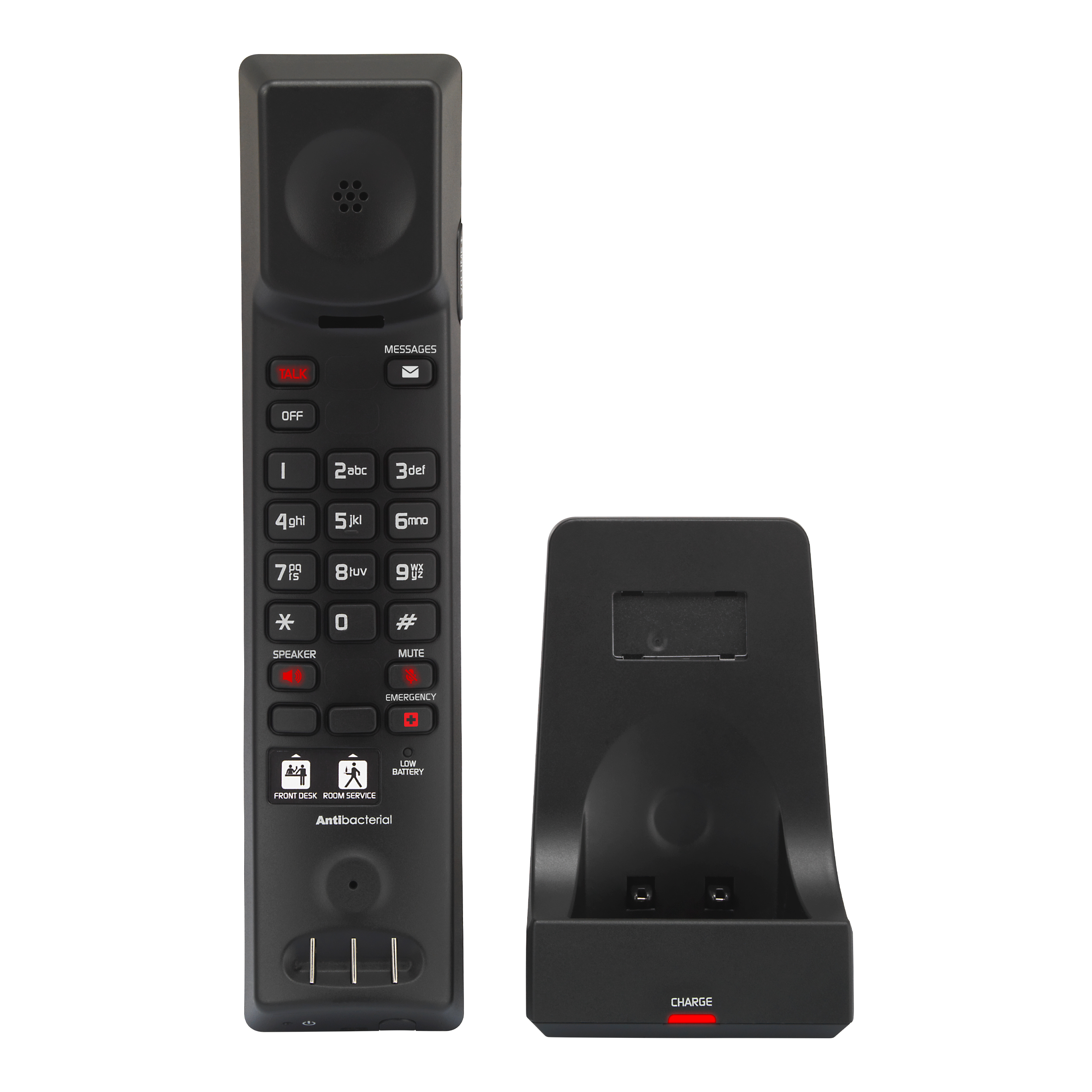 Image of 1-Line Analog Cordless Accessory Handset with Charger | CTM-A2415HC Matte Black