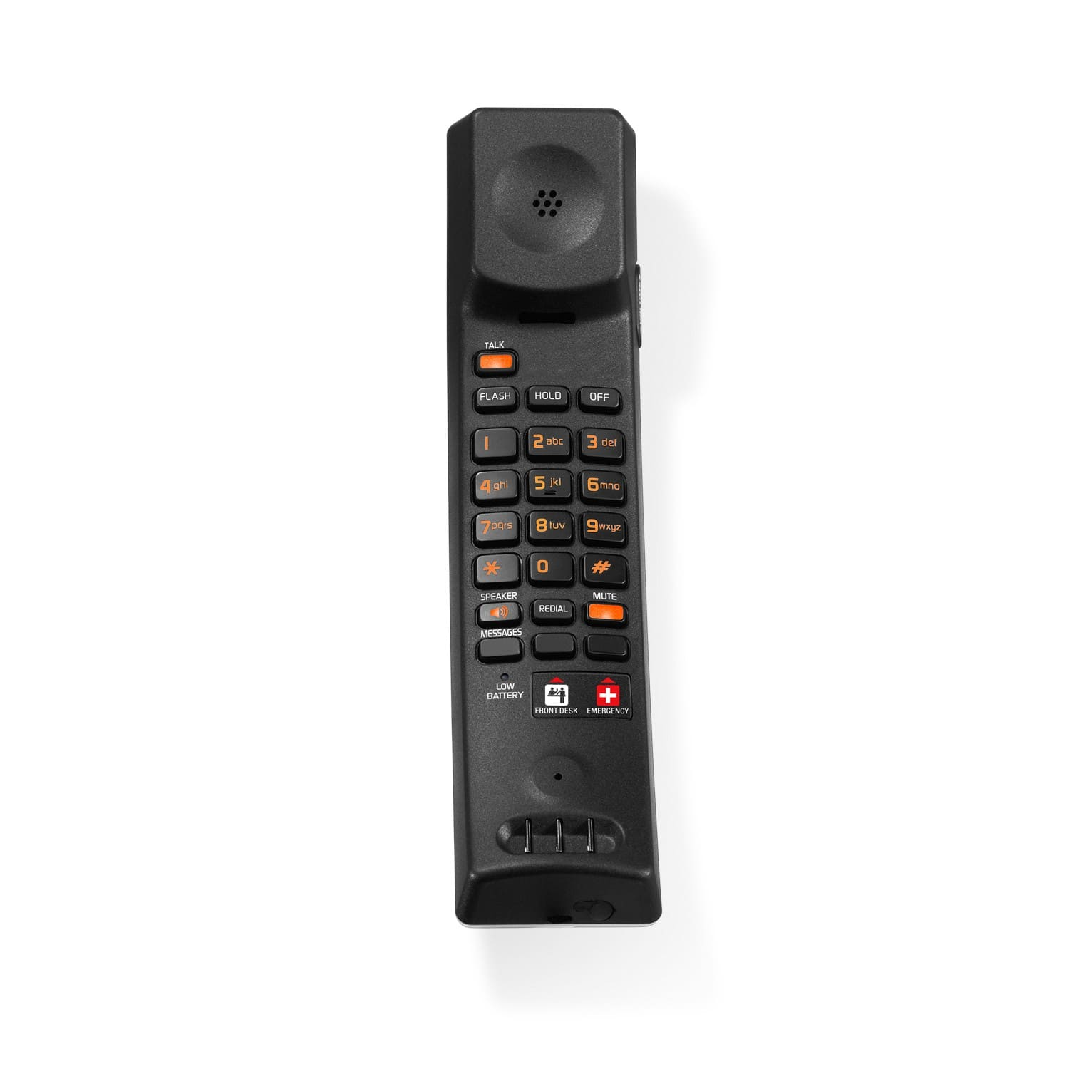 Image of Contemporary Analog Master Corded-Cordless Phone with Accessory Handset | CTM-A2510-USB Silver & Black