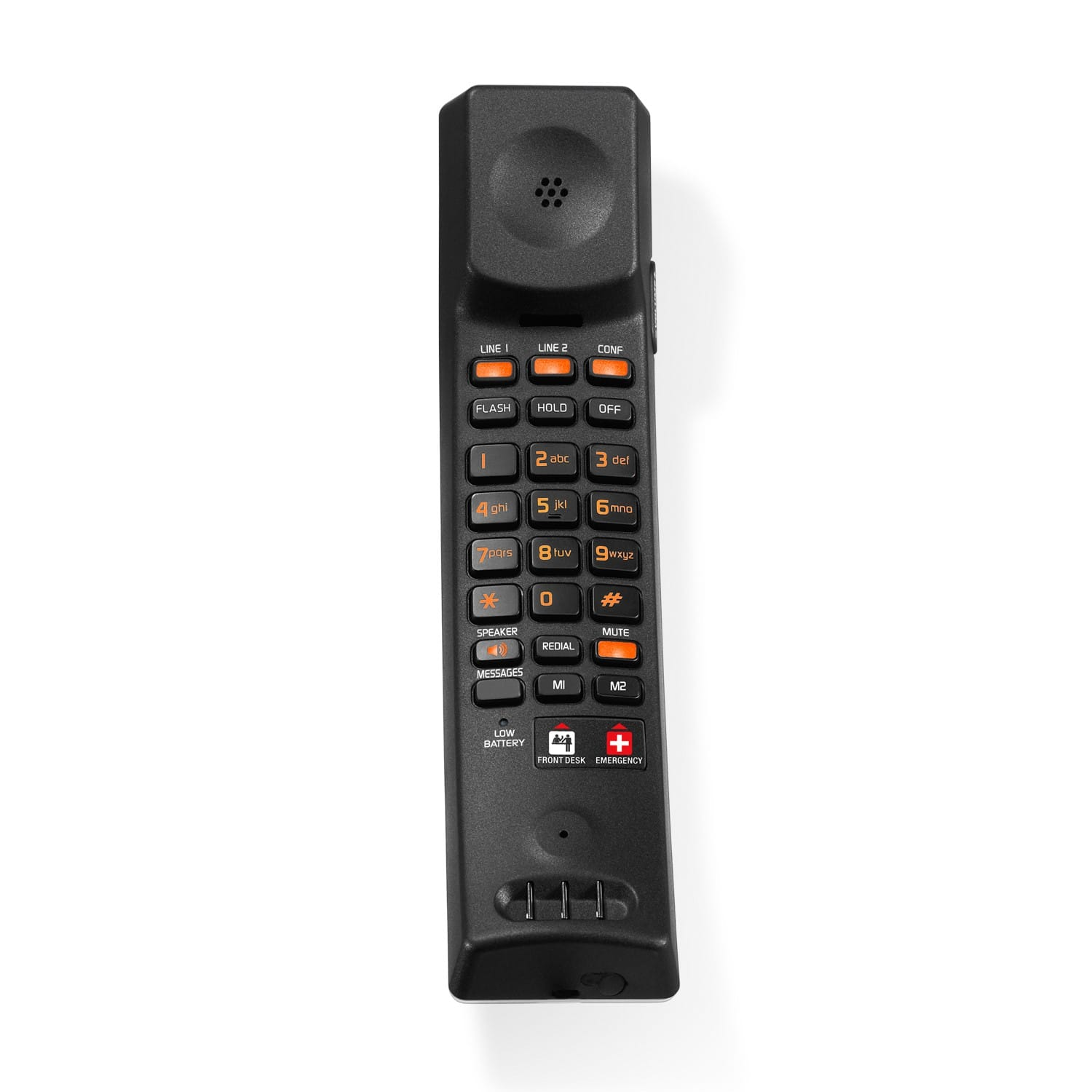 Image of 2-Line Contemporary SIP Cordless Phone | CTM-S2421 Silver & Black