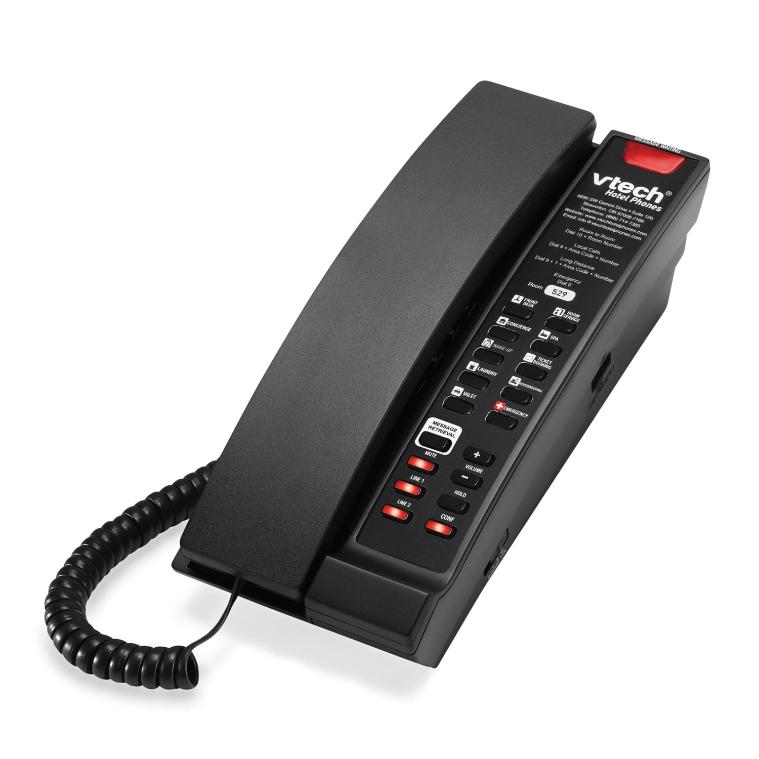 2-Line Contemporary Analog Accessory Petite Phone