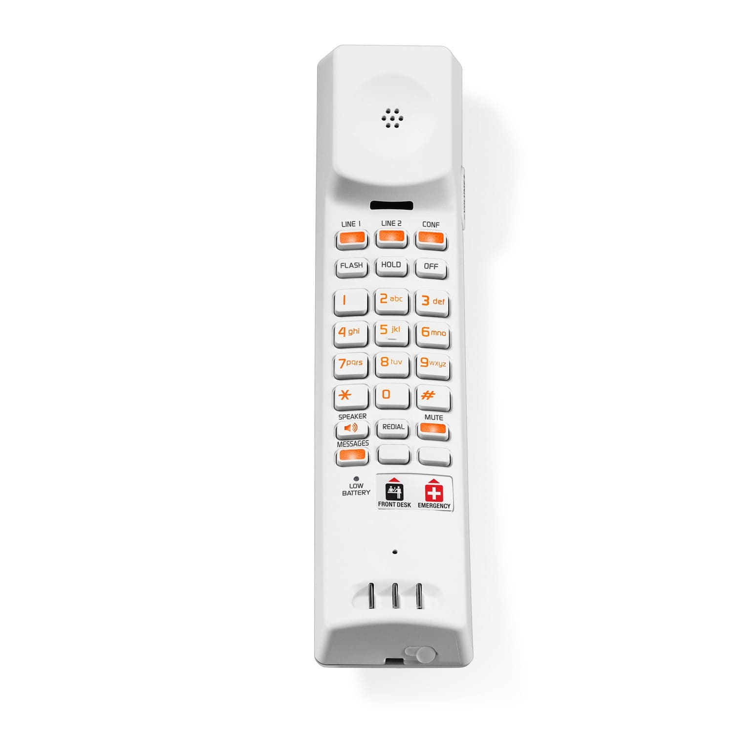Image of 2-Line Contemporary Analog Cordless Accessory Handset with Speed Dials | CTM-A242SDU Silver & Pearl