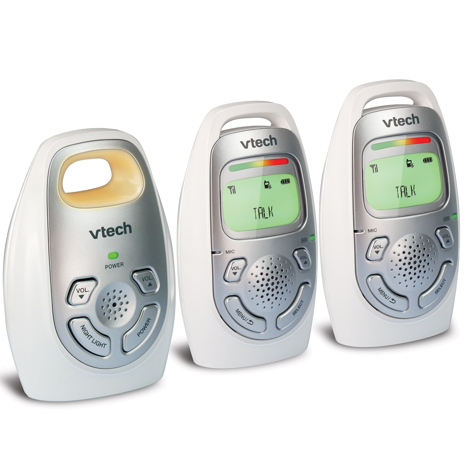 Baby Monitor Digital Audio Monitor With Two Parent Units