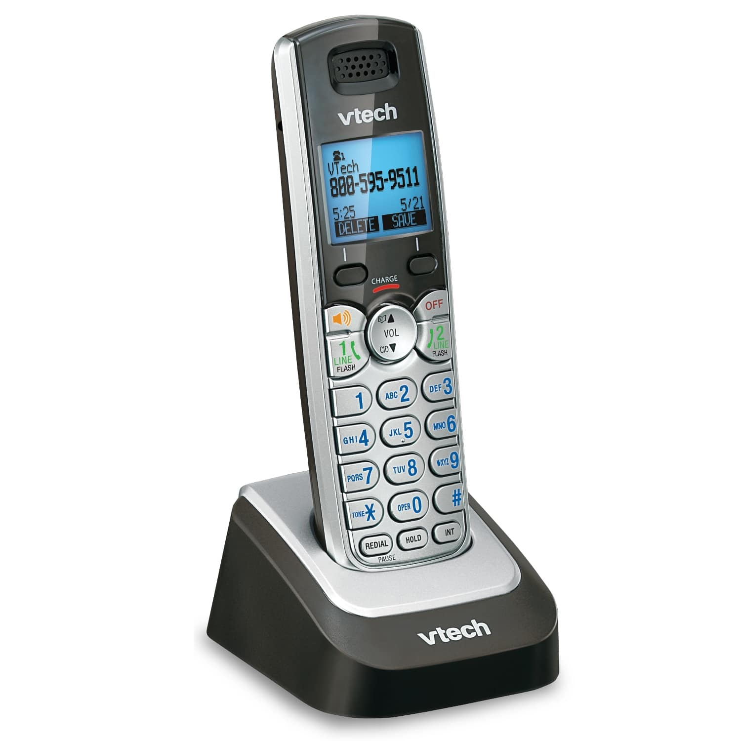 2-Line 4 Handset Answering System with Dual Caller ID/Call Waiting