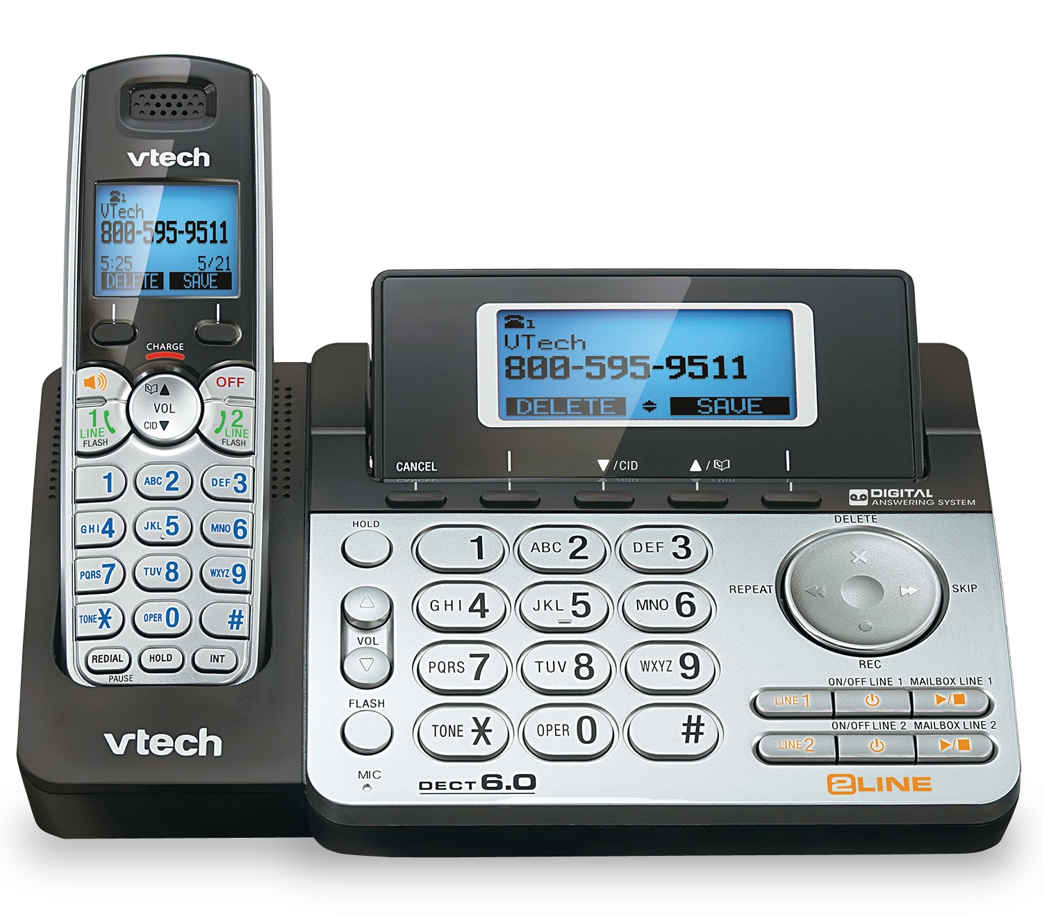 2-Line Answering System with Dual Caller ID/Call Waiting | DS6151 | VTech®  Cordless Phones