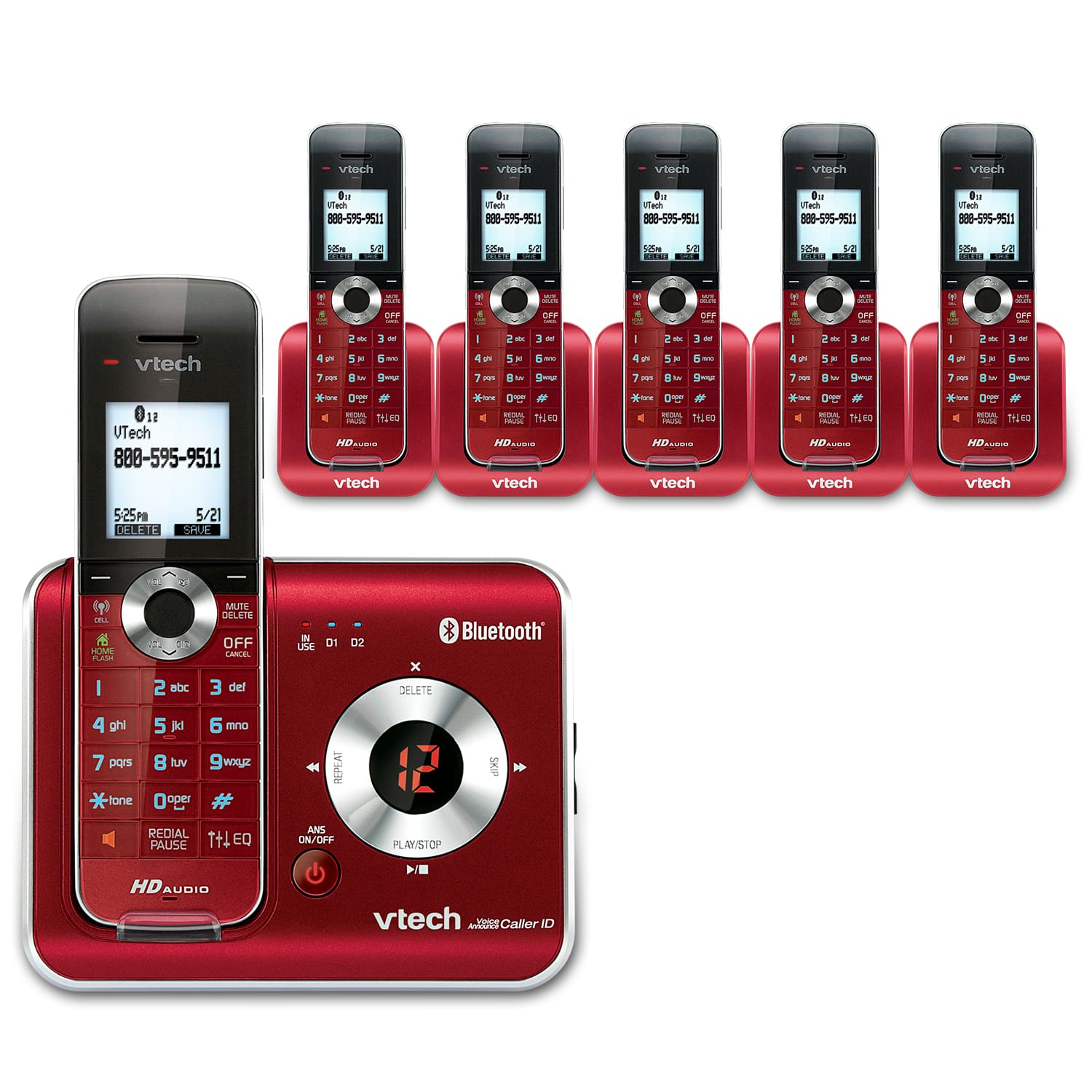 6 Handset Connect to Cell™ Answering System with Caller ID/Call Waiting