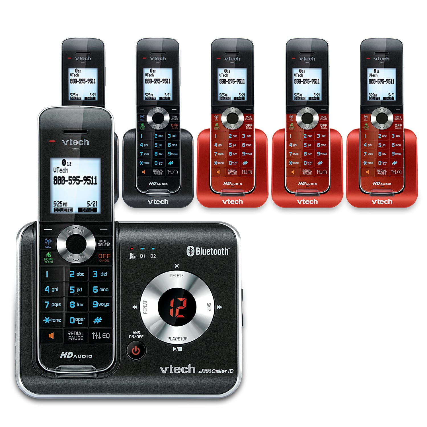 5 Handset Connect To Cell Phone System With Caller Id