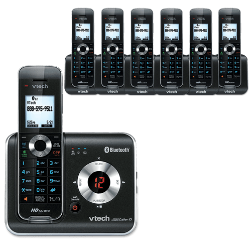 7 Handset Connect to Cell™ Answering System with Caller ID/Call Waiting
