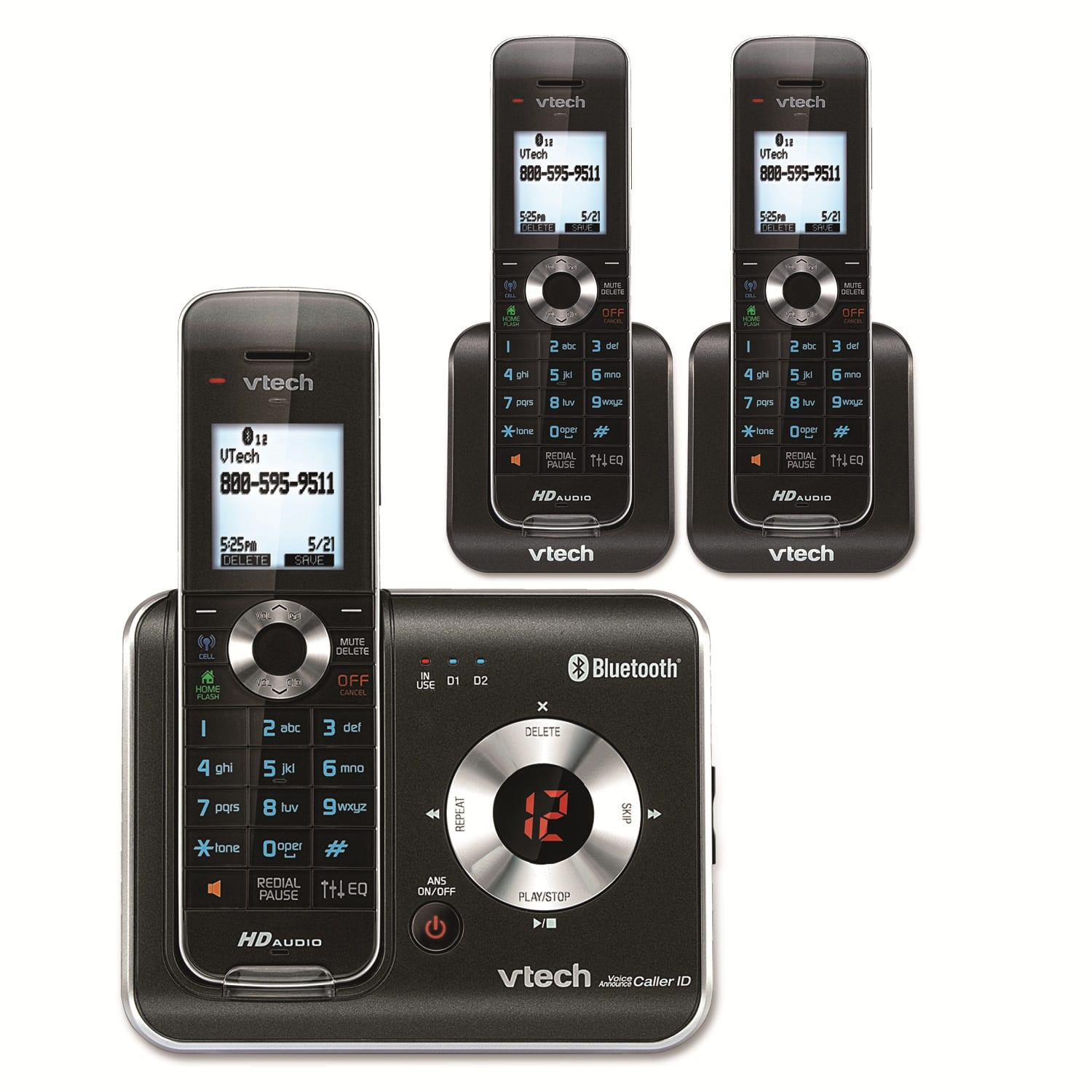a house phone home phones way to stay connected at home 3 Handset Connect to Cell™ Answering System with Caller ID-Call Waiting