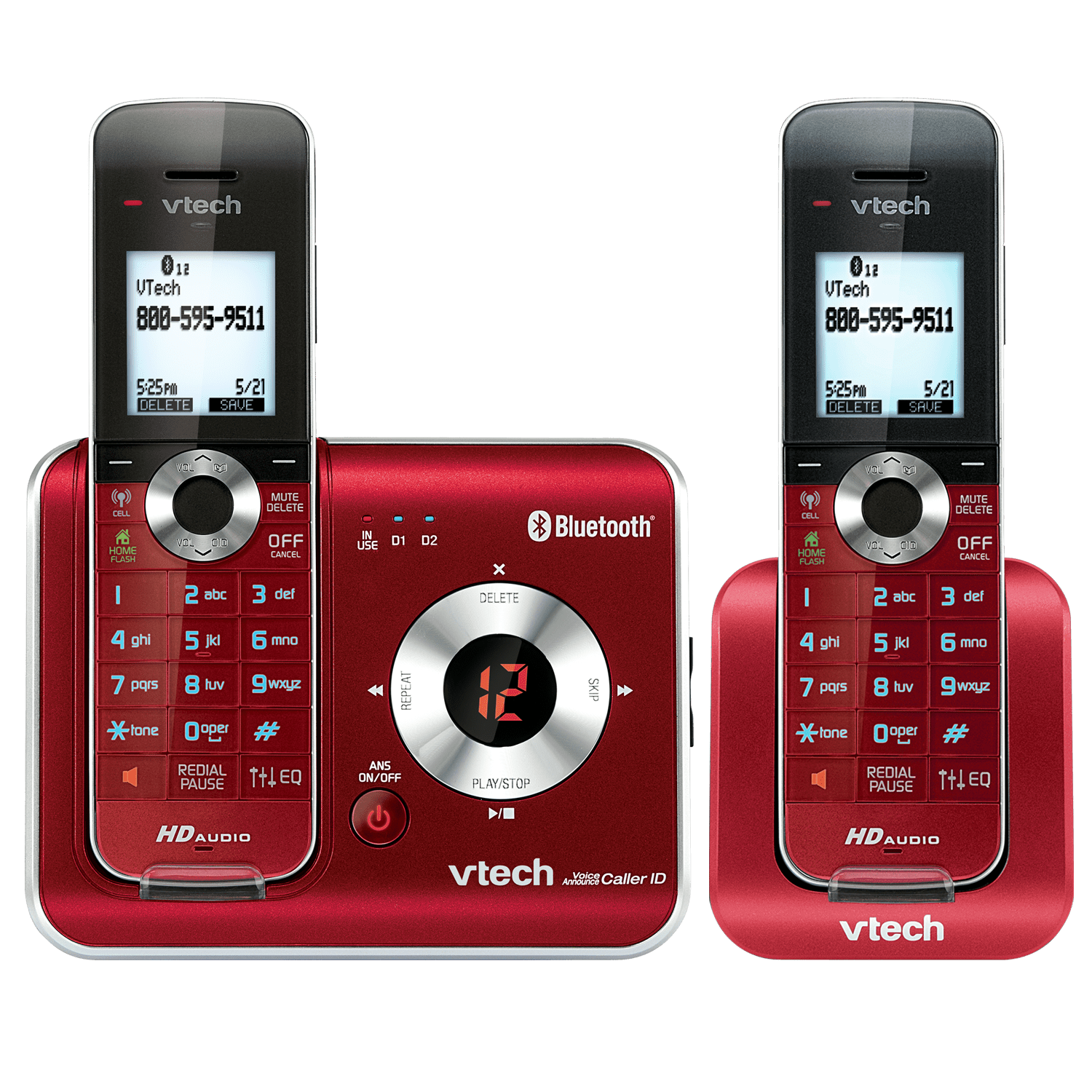 2 Handset Connect to Cell™ Answering System with Caller ID/Call Waiting