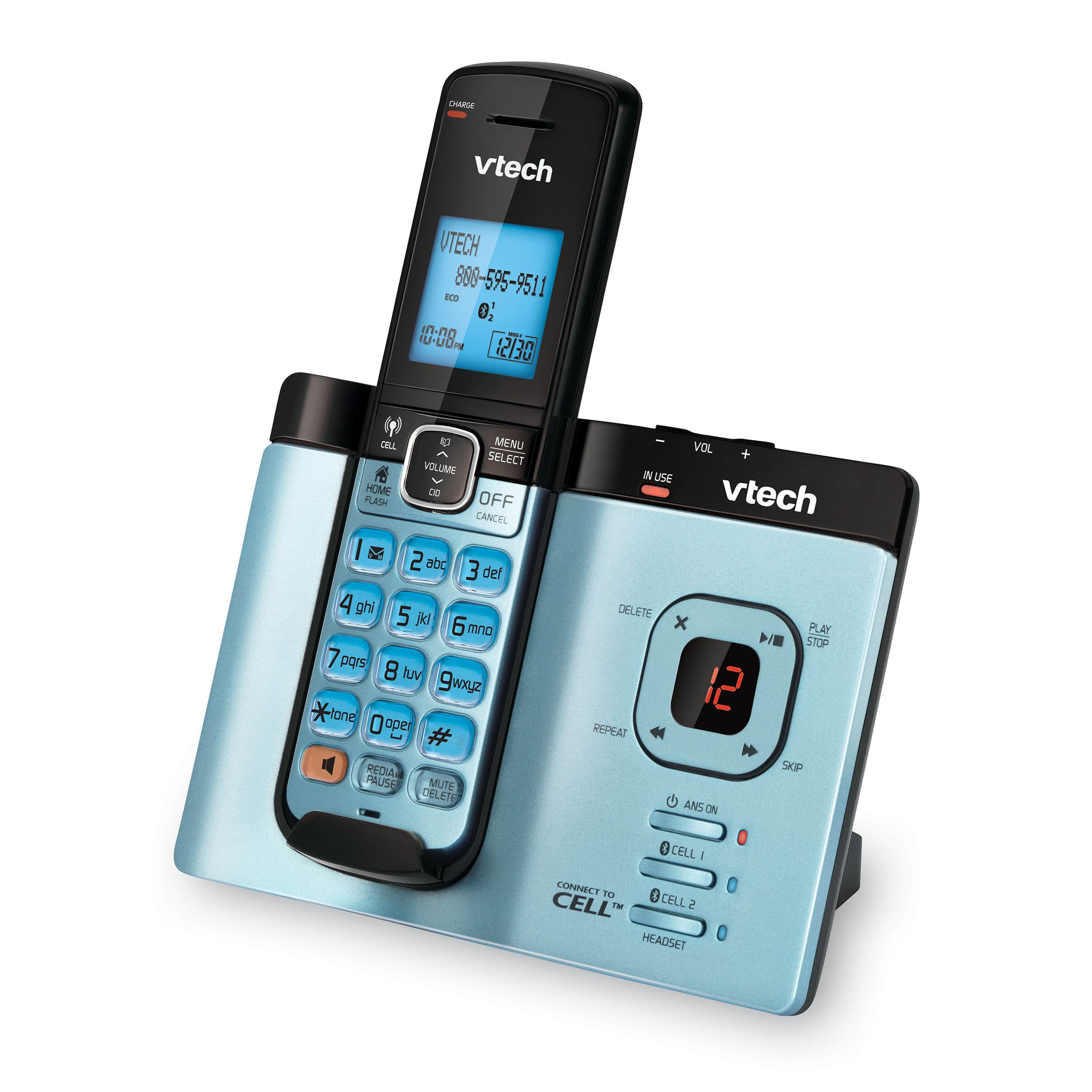 5 Handset Connect to Cell™ Phone System with Caller ID/Call Waiting