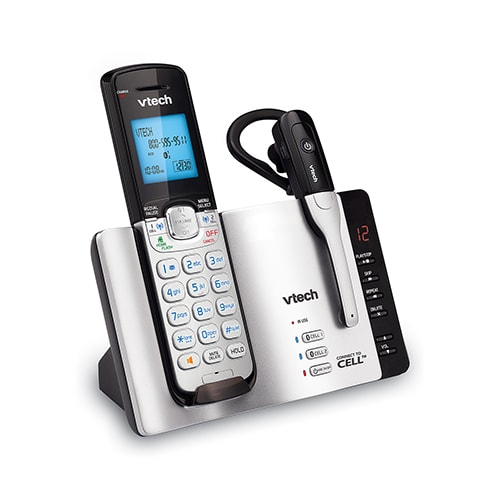 2 Handset Connect to Cell™  Answering System with Cordless Headset
