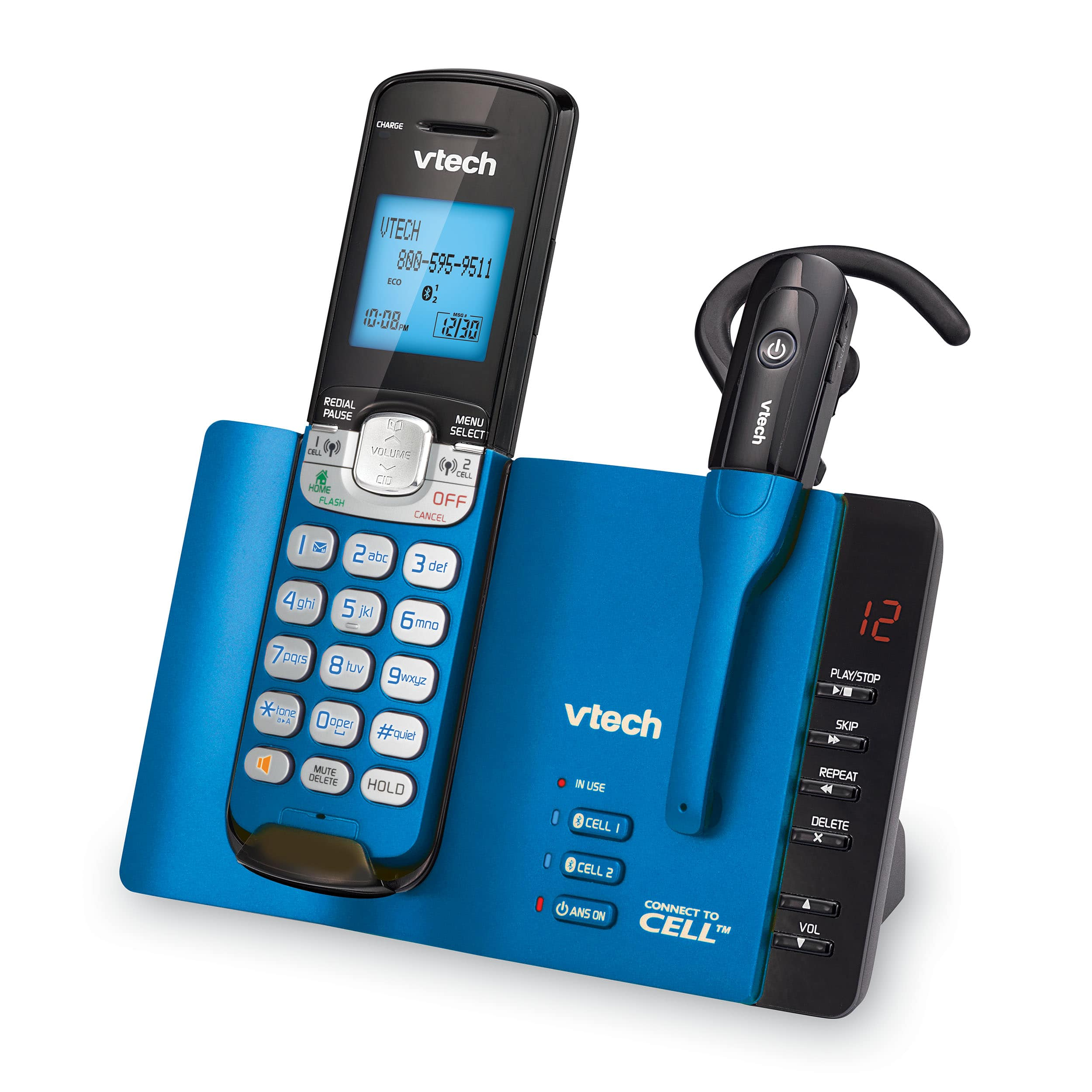 4 Handset Connect to Cell™ Phone System with Caller ID/Call Waiting ...