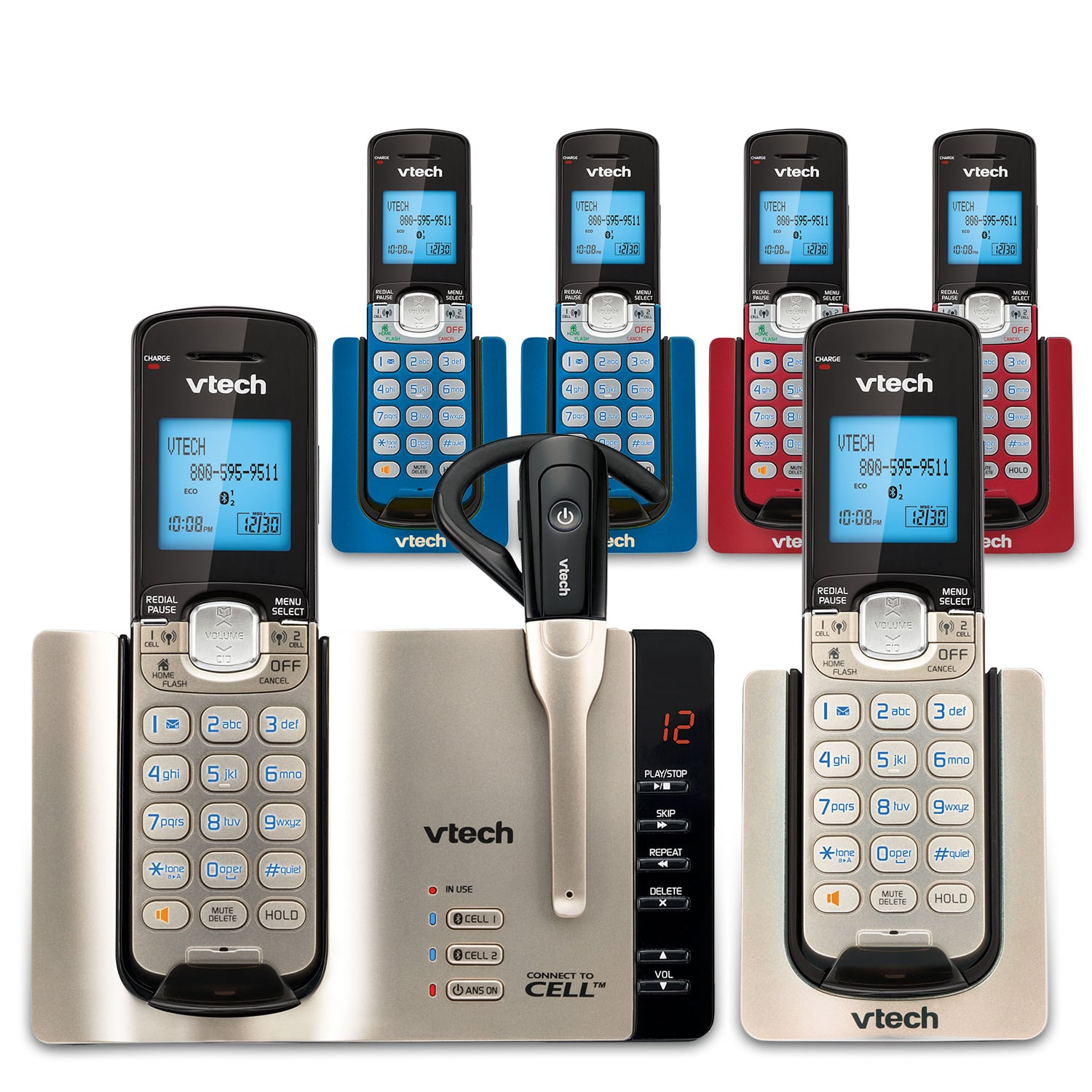 Cordless Phone Bundles with 6 Handsets | VTech Store | VTech USA