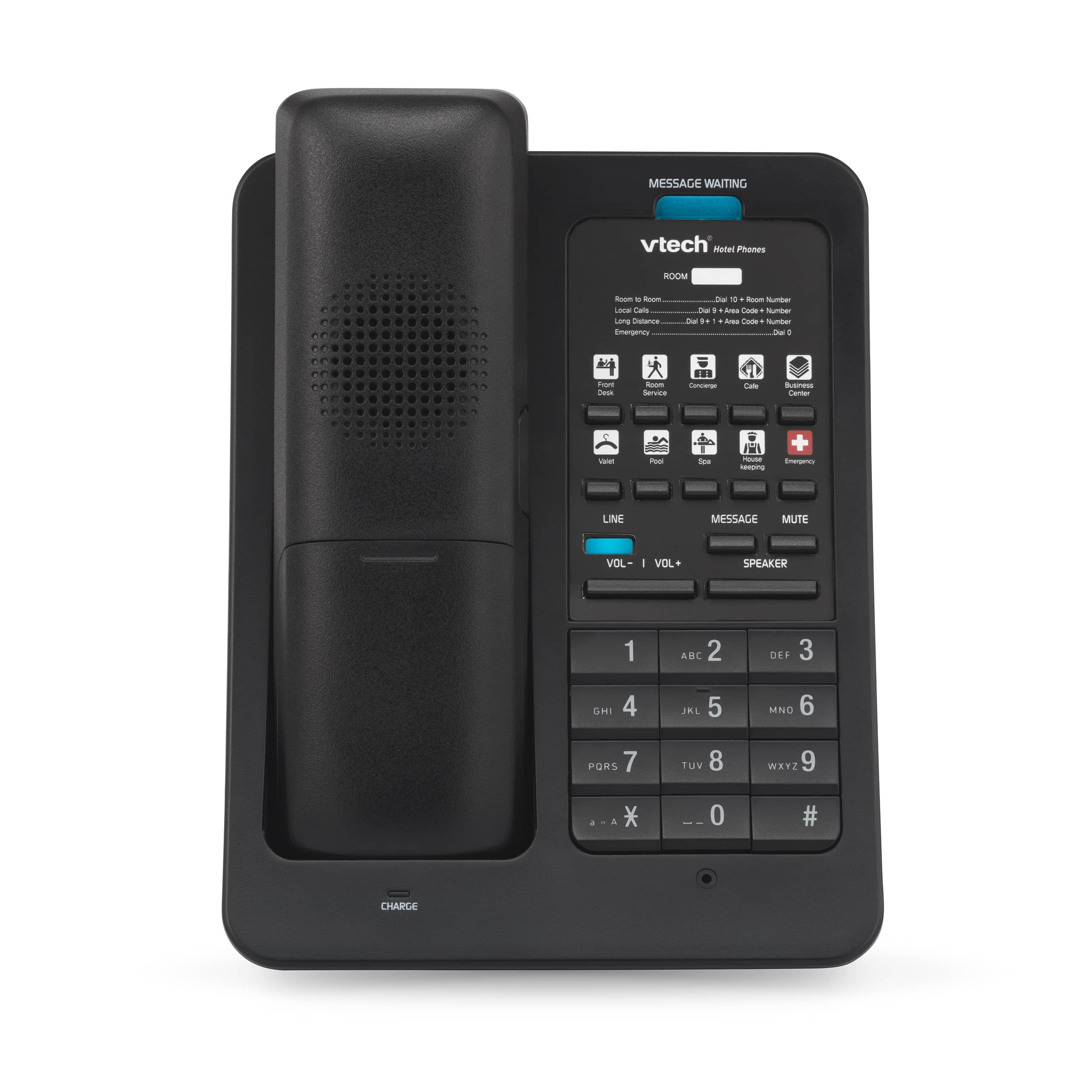 Image of 1-Line Color SIP Cordless Phone with 3 USB Ports | LS-S3410-USB