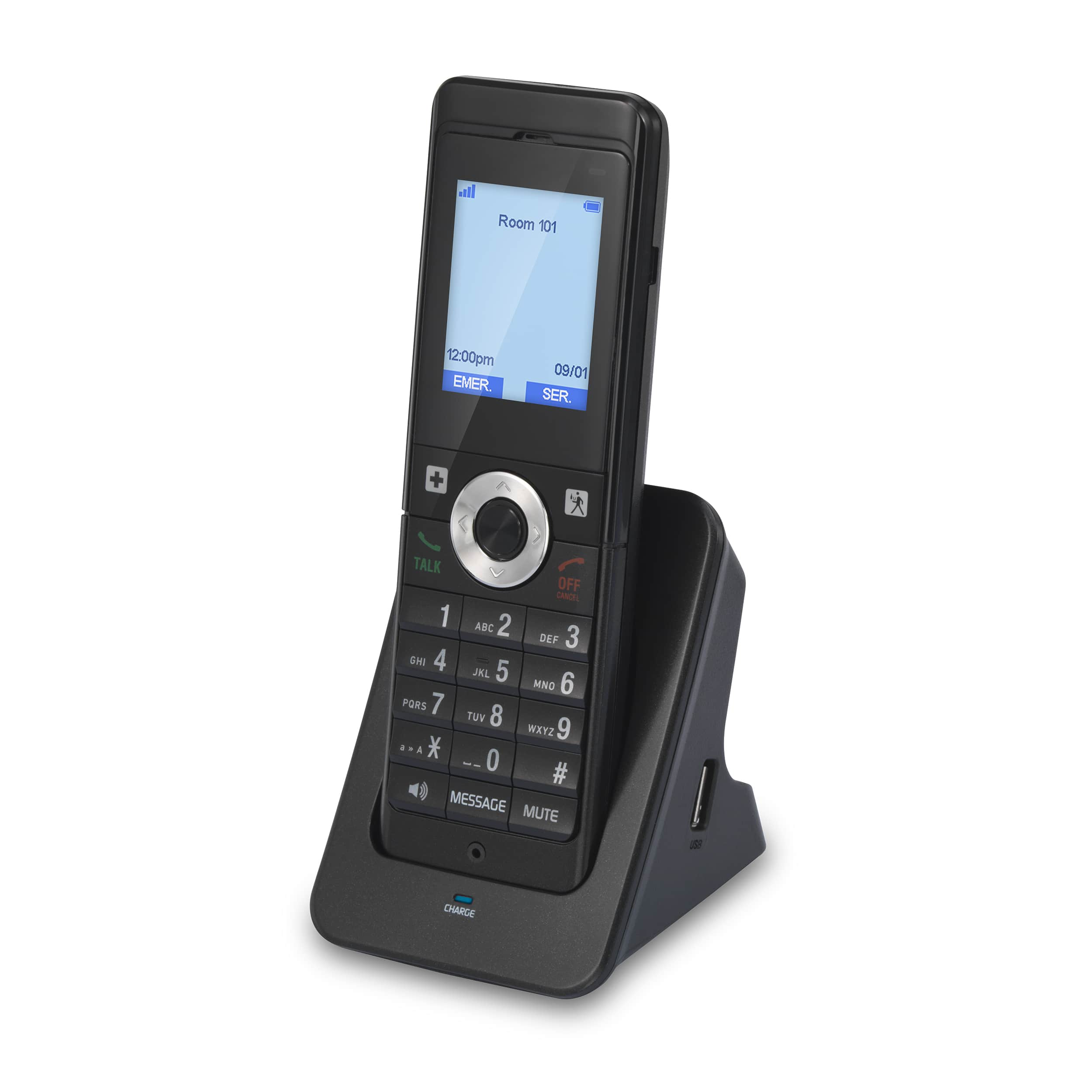 Image of 1-Line Color SIP Cordless Accessory Handset | LS-S341HS