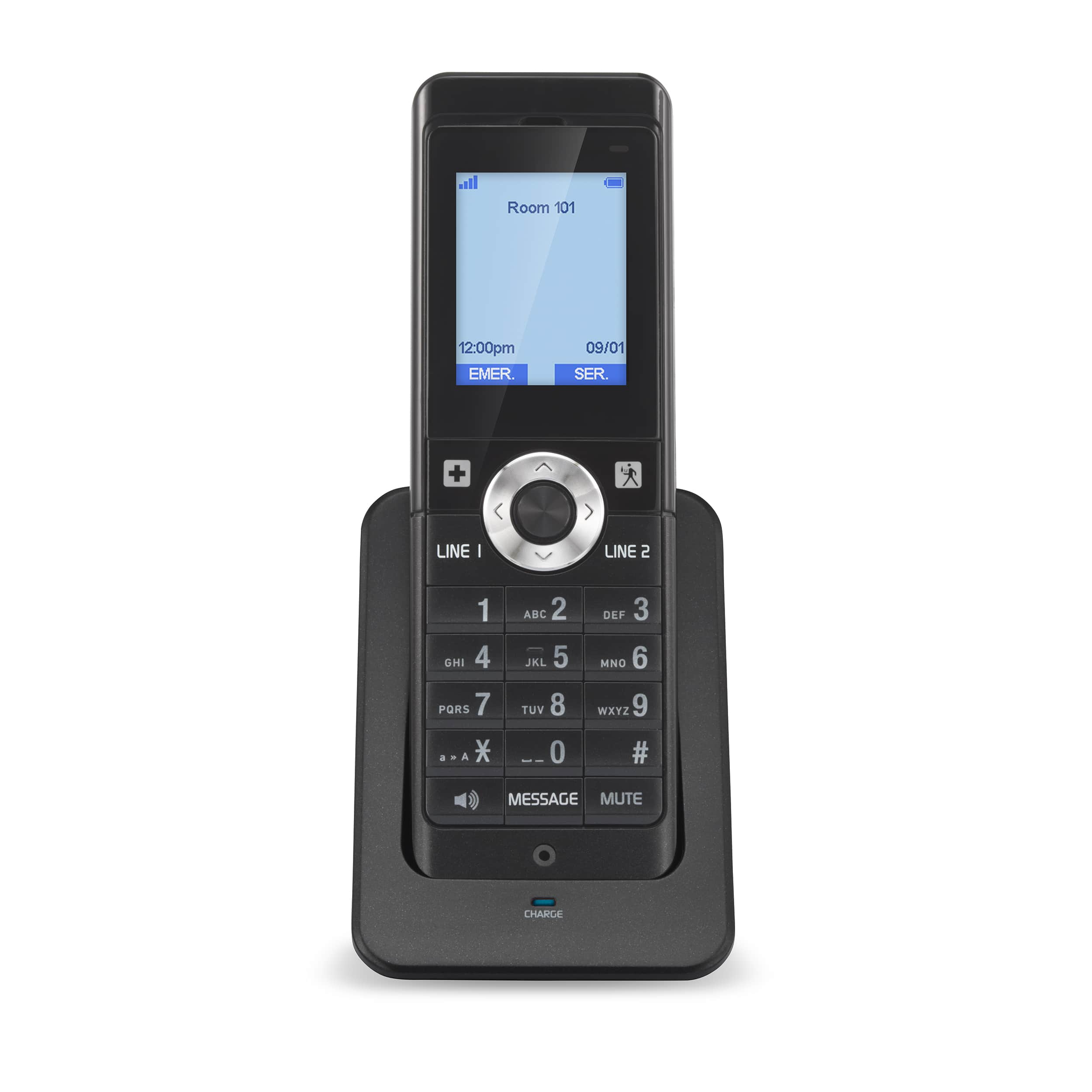 2-Line Color SIP Cordless Accessory Handset