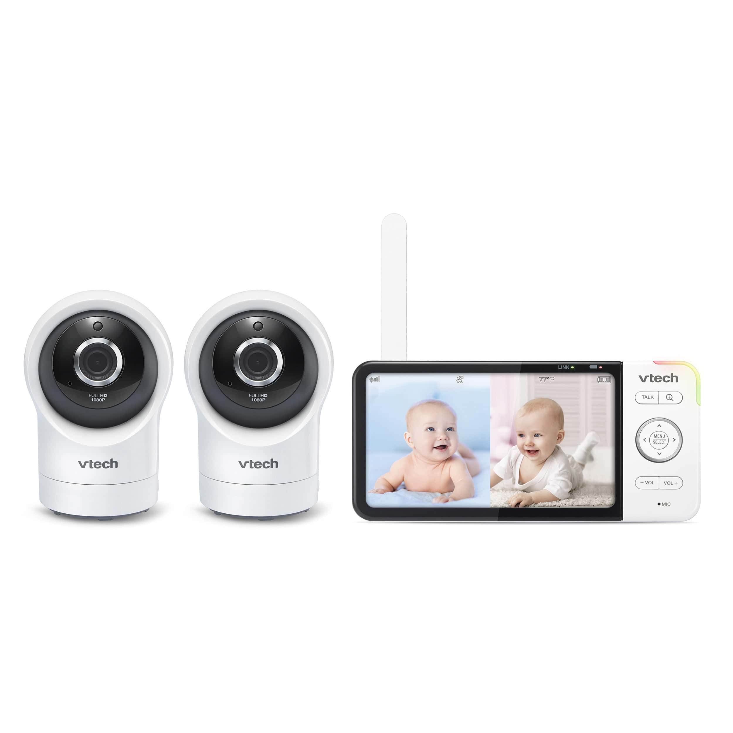 Wi-Fi Remote Access 2 Camera Video Baby Monitor with 5