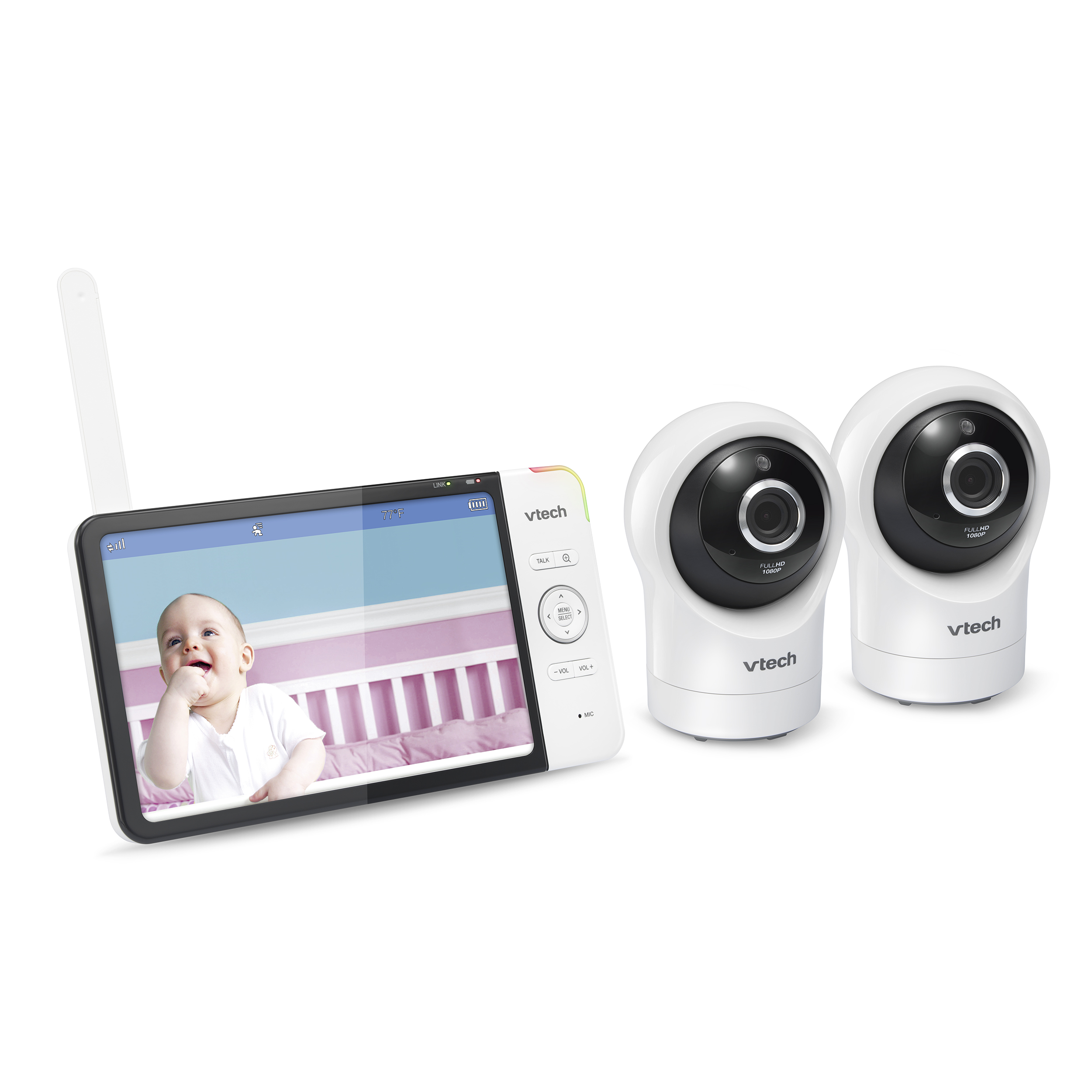 Wi-Fi Remote Access 2 Camera Video Baby Monitor with 7