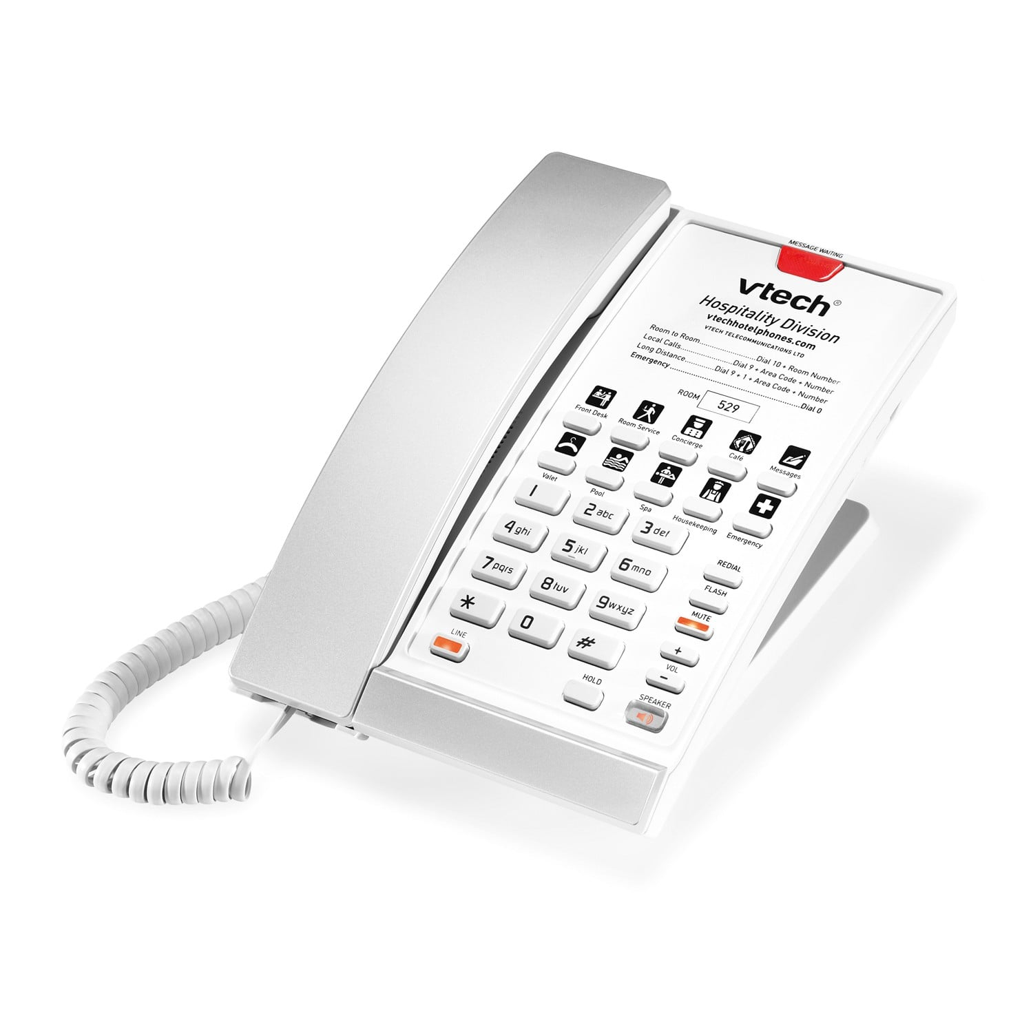 1 Line Contemporary Sip Corded Phone Vtech Hotel Phones
