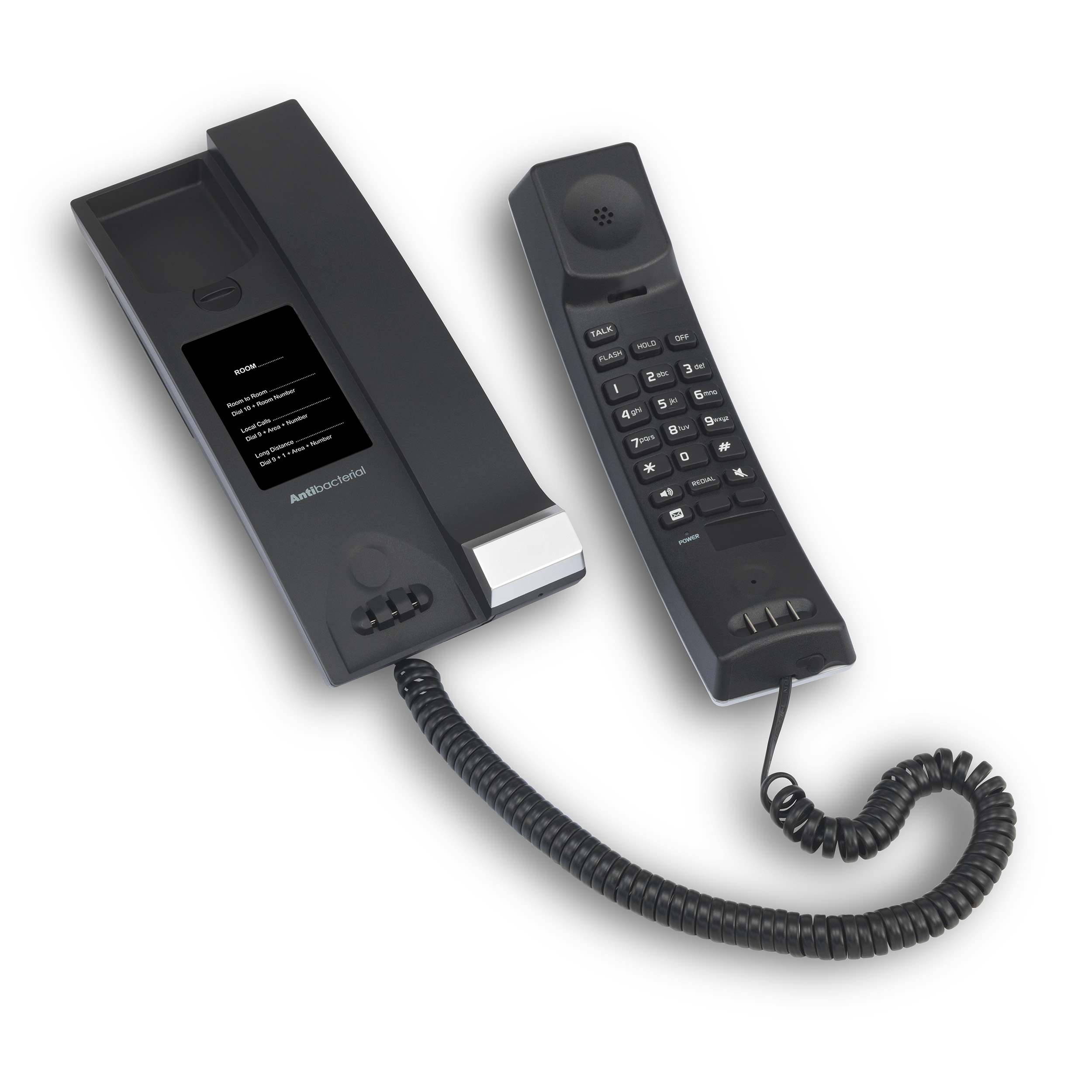 Image of 1-Line Contemporary SIP Corded TrimStyle Phone | CTM-S2312 Matte Black