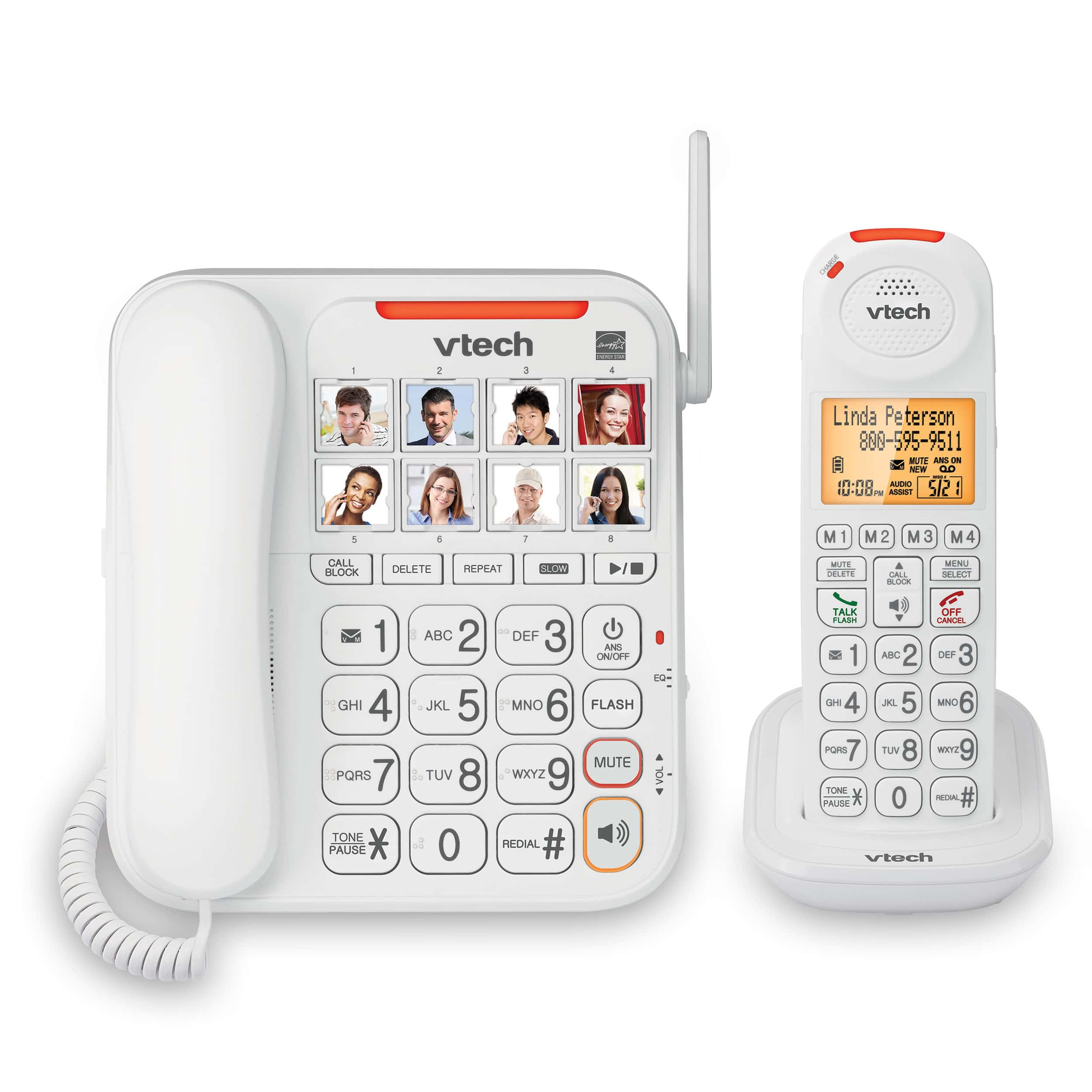 a house phone home phones way to stay connected at home Amplified Corded-Cordless Phone with Answering System, Big Buttons,  Extra-Loud Ringer u0026 Smart Call Blocker