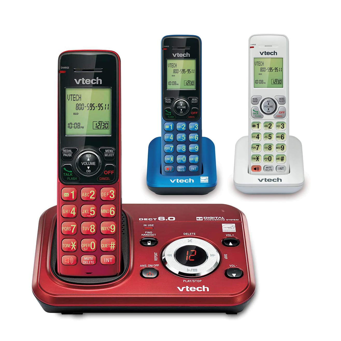 3 Handset FoneDeco Answering System with Caller ID Call Waiting