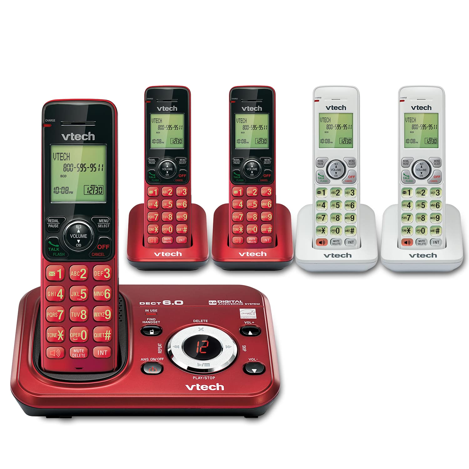 5 Handset FoneDeco Answering System with Caller ID/Call Waiting