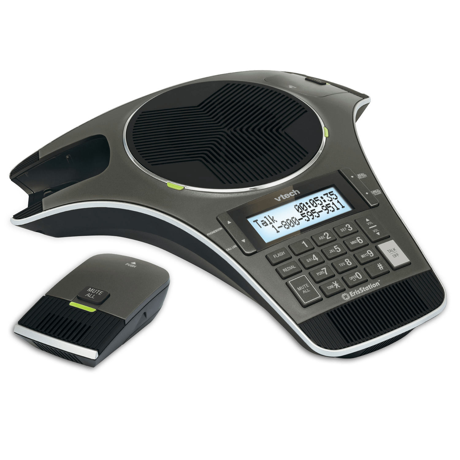 ErisStation® Conference Phone with Two Wireless Mics