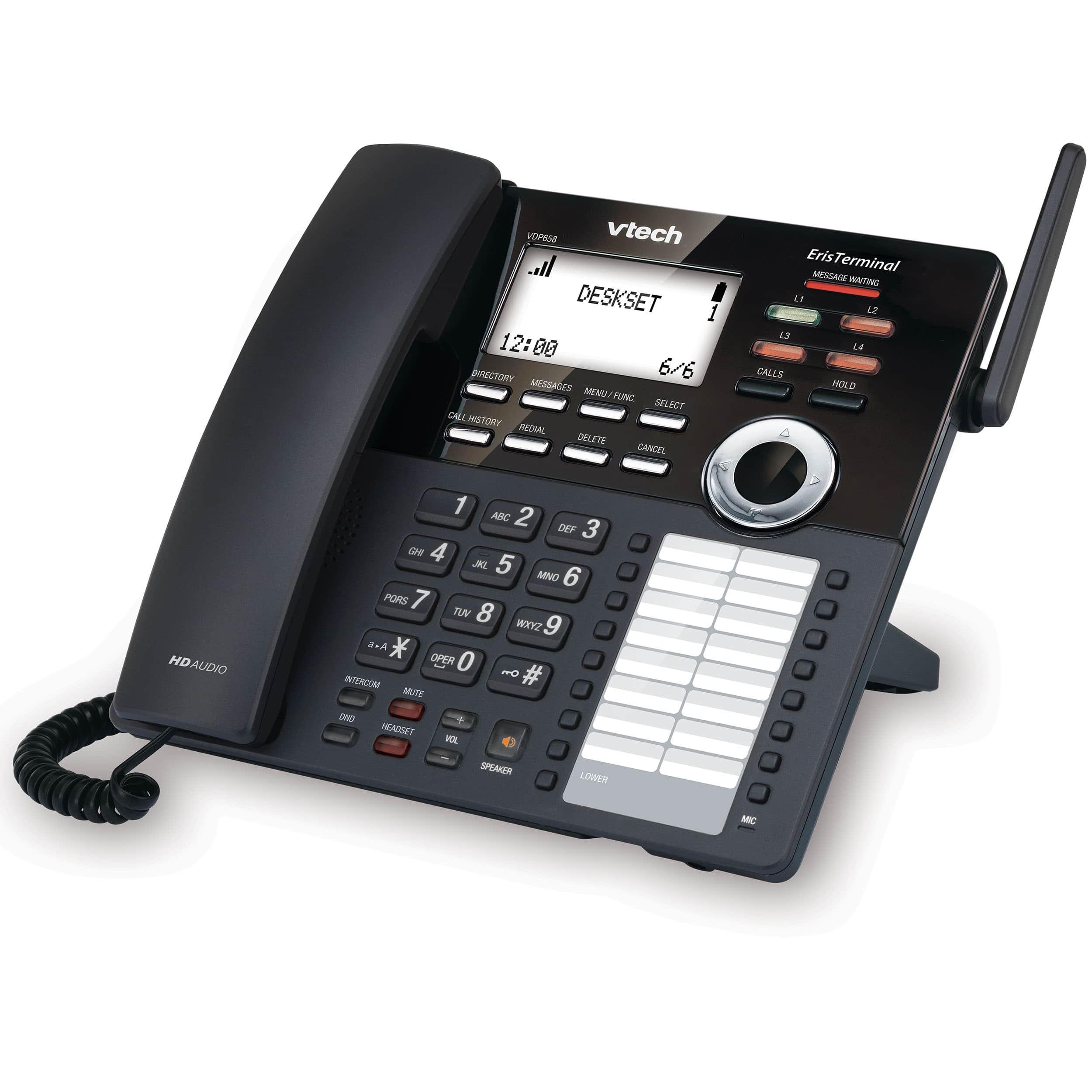Eristerminal Sip Dect Cordless 4 Line Deskset Vtech Business Phones Wireless Intercom Ac Power Systems Up To 1000 Previous