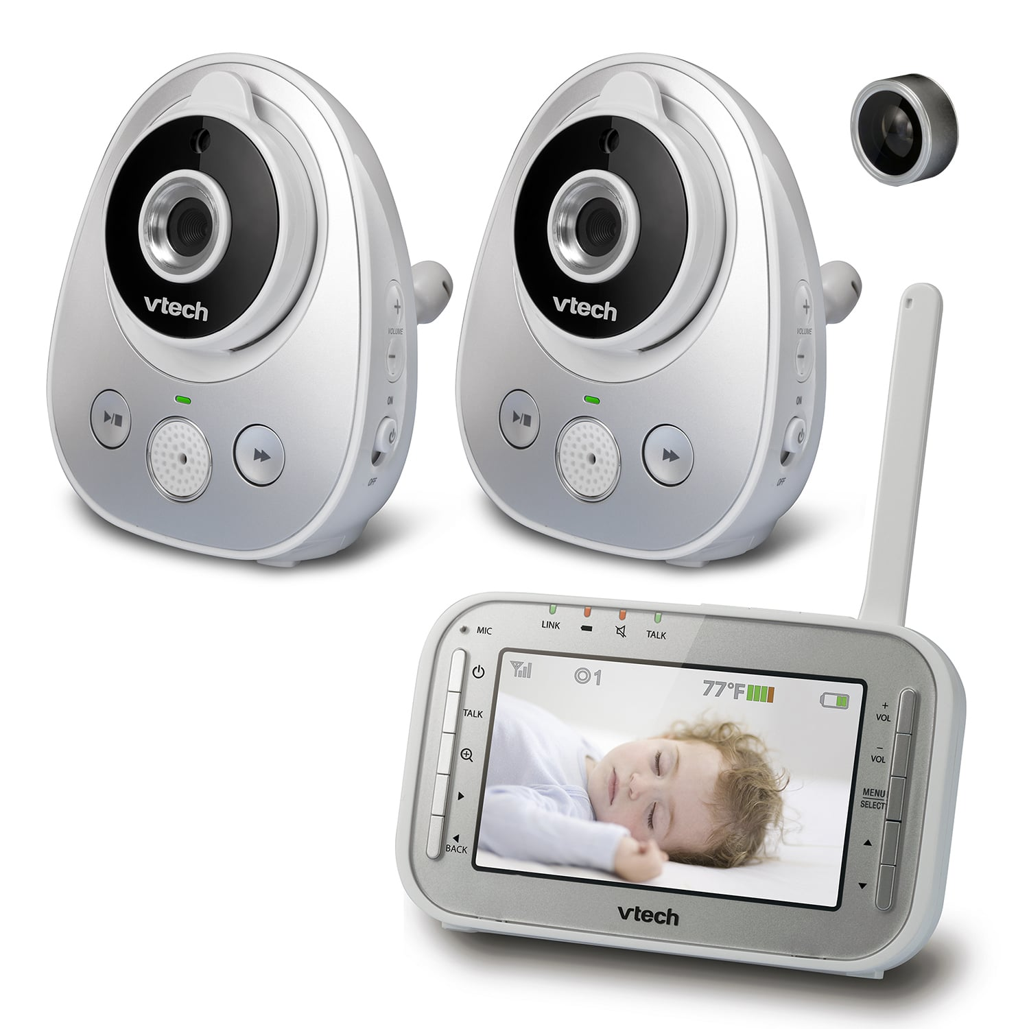 c88fcff8080d4 Baby Monitor - 2 Camera Video Monitor with Wide-Angle Lens and ...