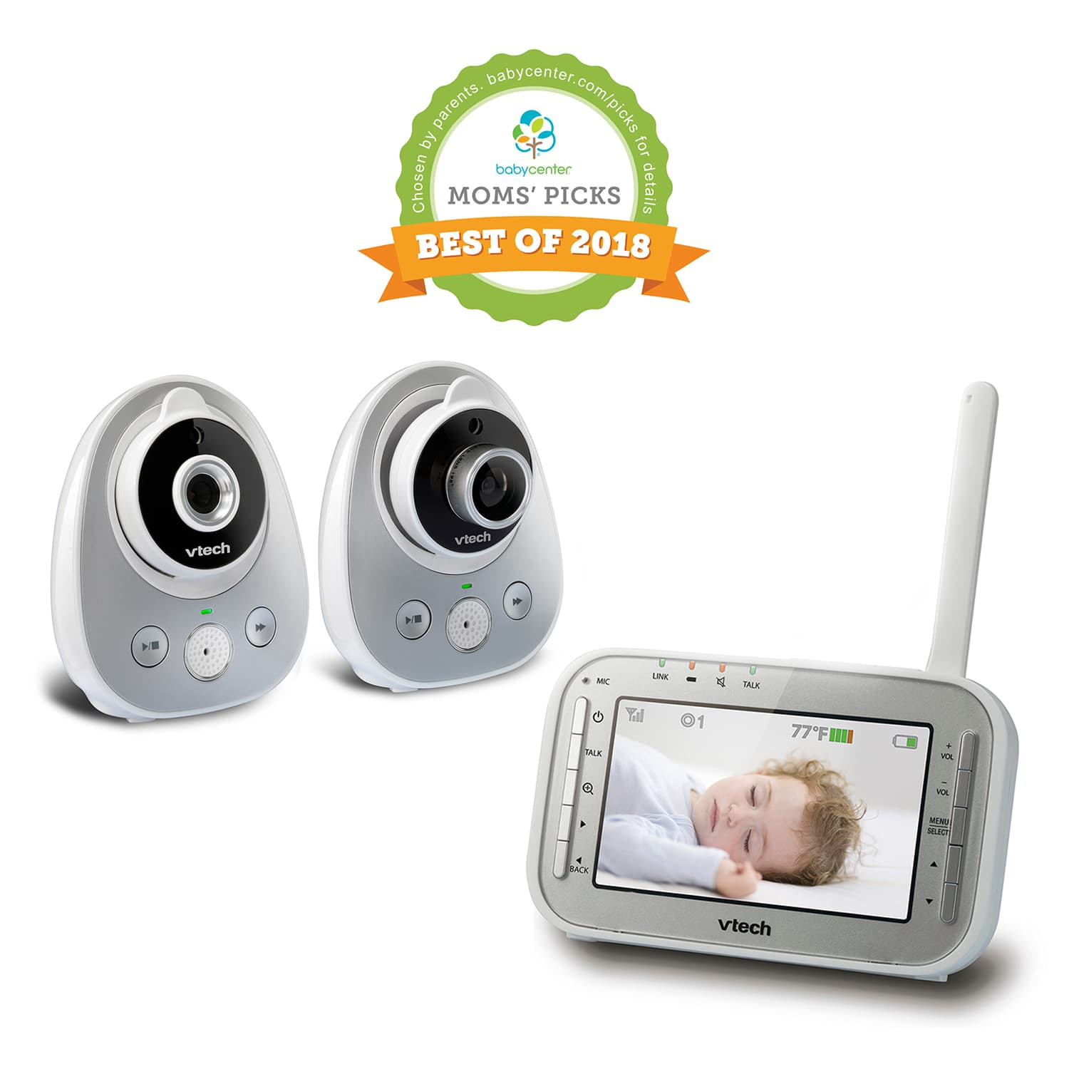45864539b34c1 Baby Monitor - 2 Camera Video Monitor with Wide-Angle Lens and Standard Lens.  VM342-2