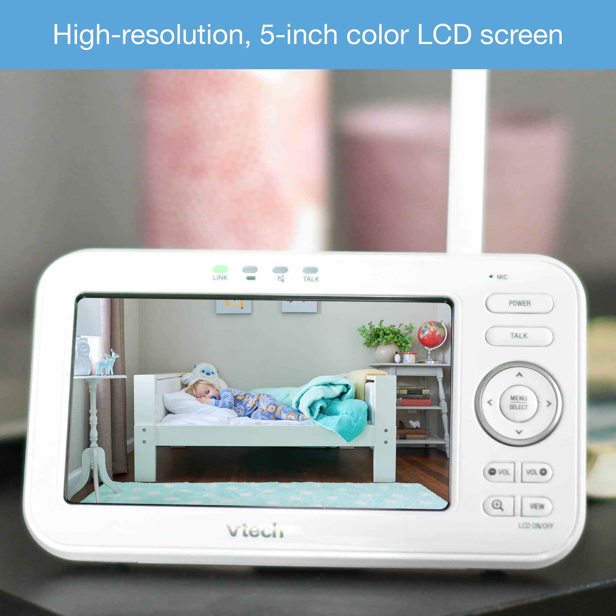 5 Quot Digital Video Baby Monitor With Wide Angle Lens
