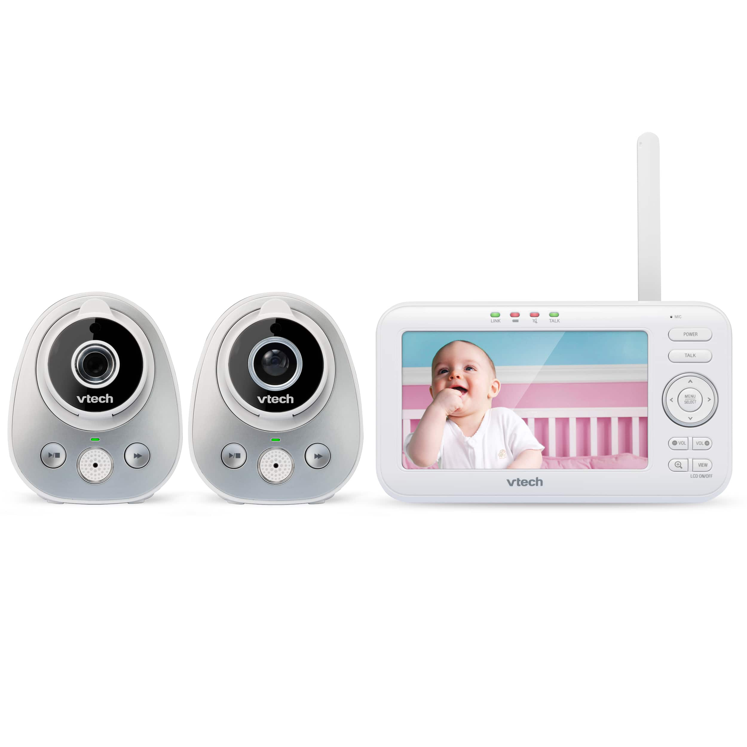 """5"""" Digital Video Baby Monitor with 2 Cameras and Automatic"""