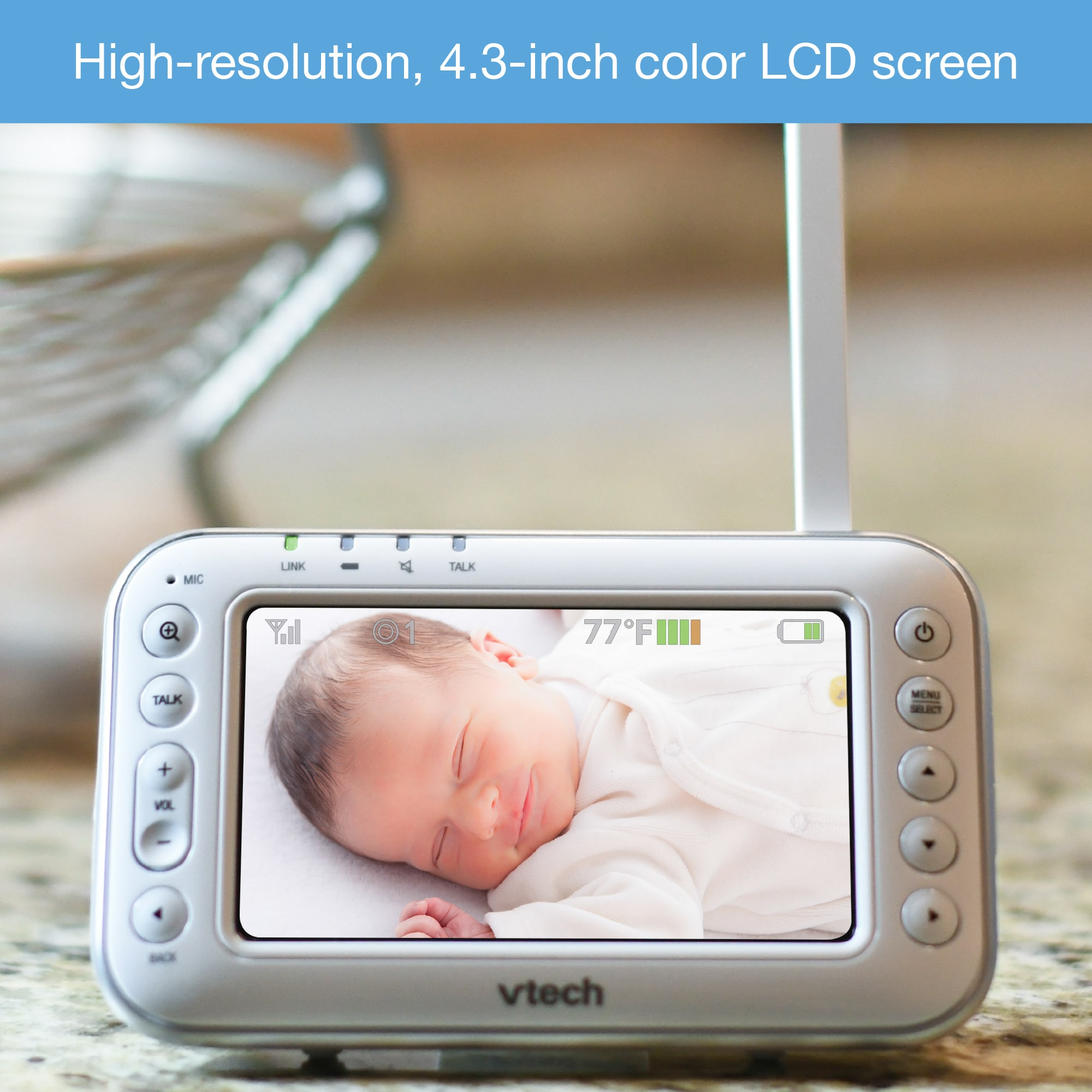 4 3 Quot Digital Video Baby Monitor With Pan Amp Tilt Camera