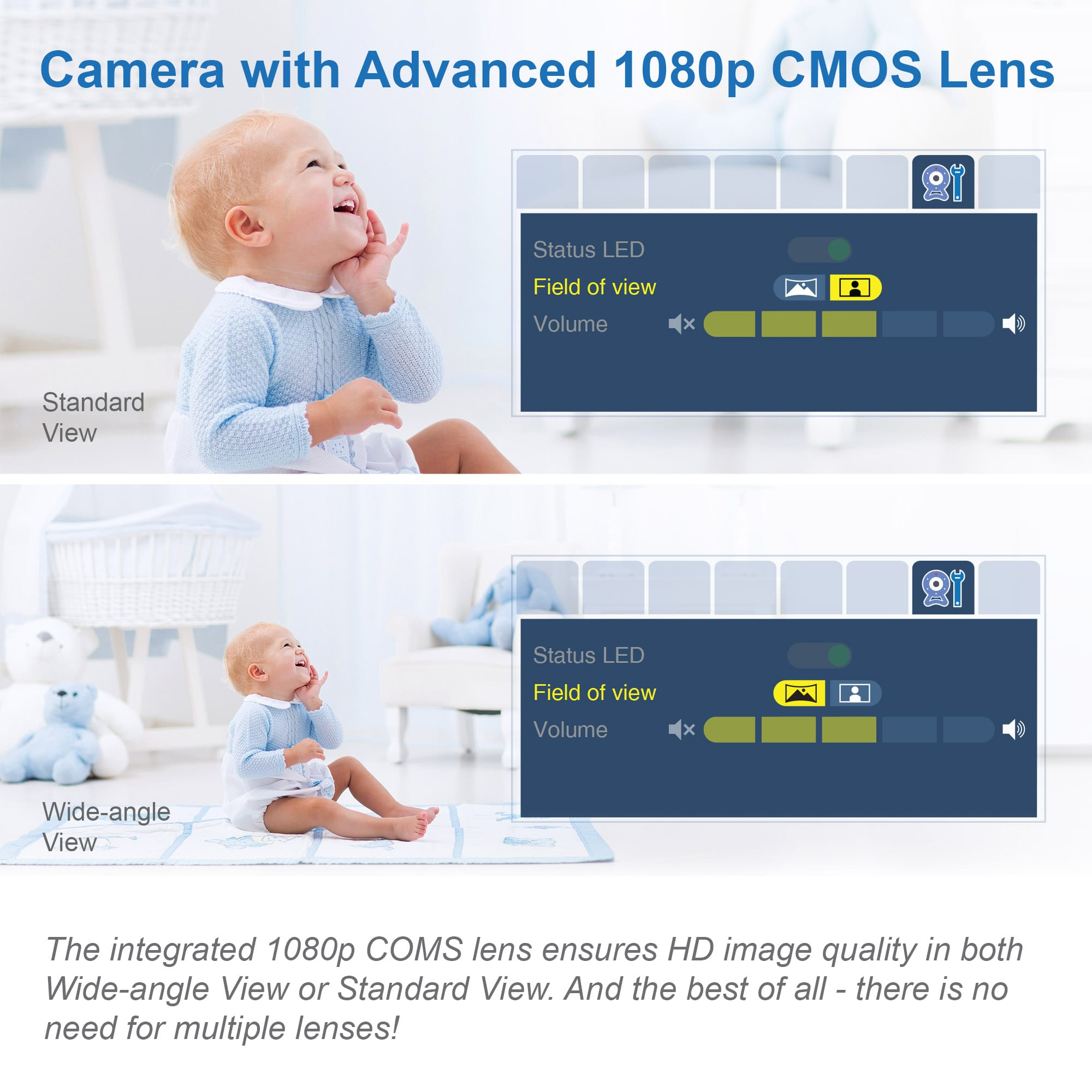 Video Baby Monitor with 7